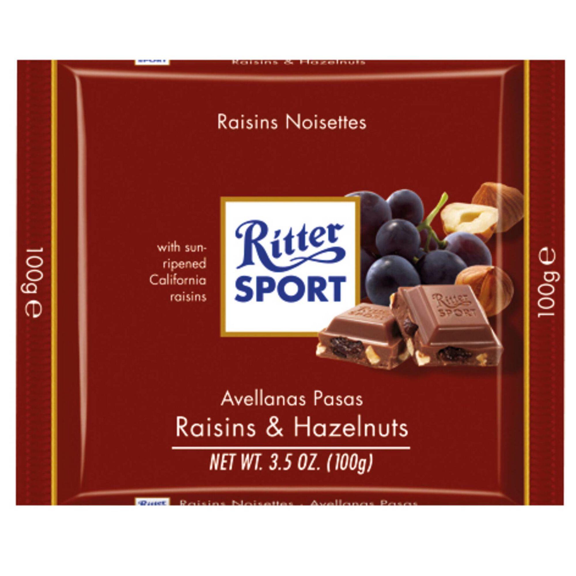 Tablete de Chocolate com Avelã e Passas