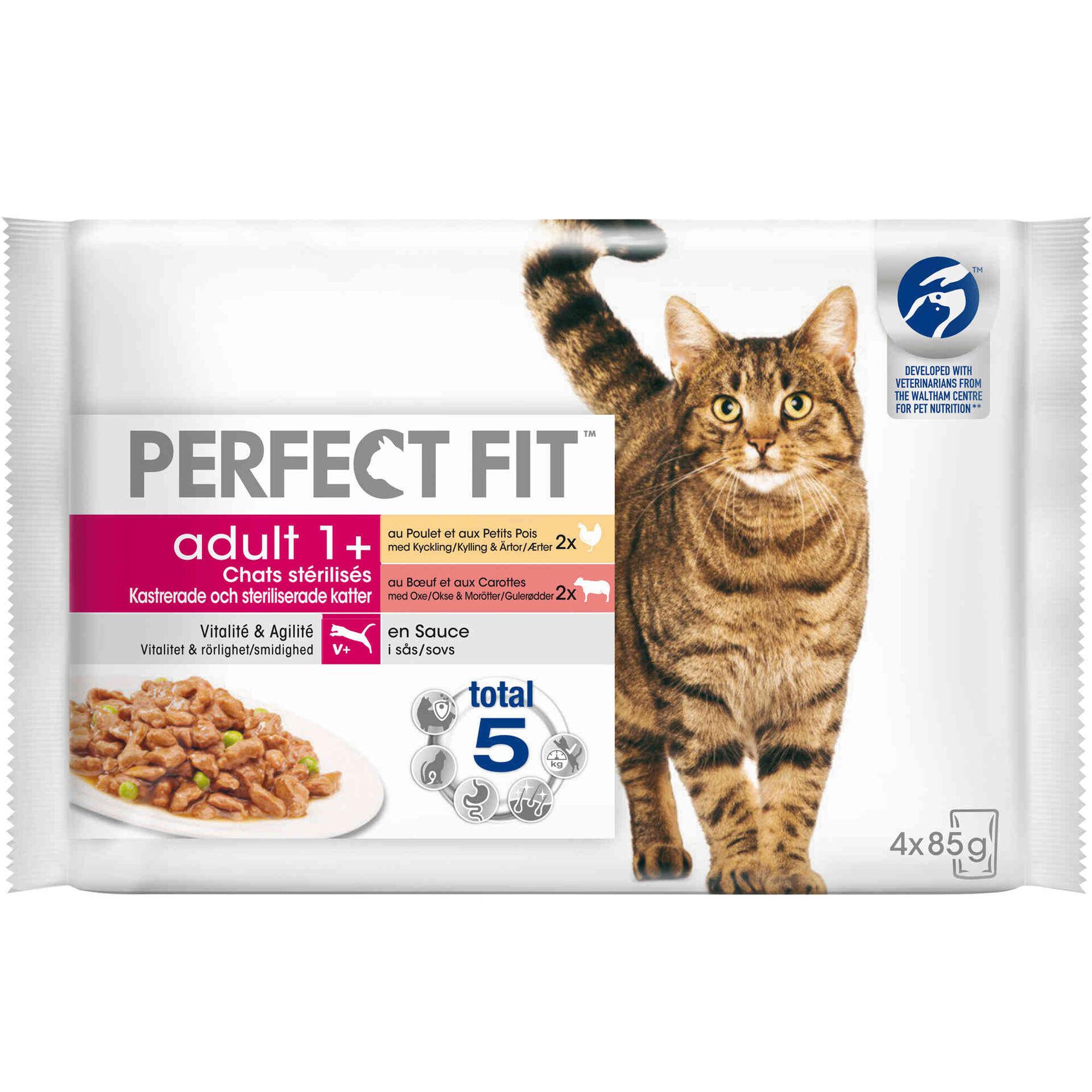 Comida Húmida para Gato Adulto Esterilizado Carne Saquetas