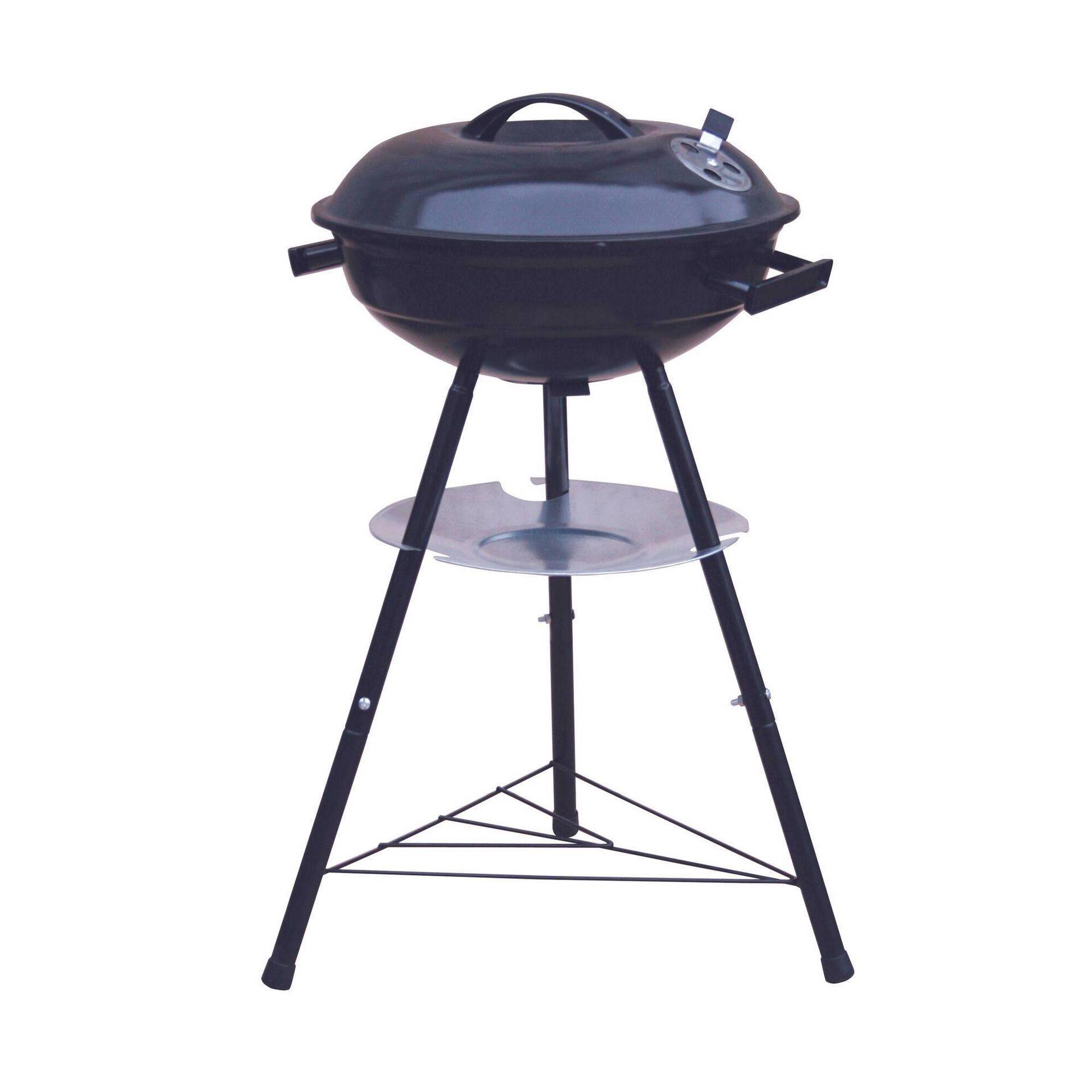 Barbecue Carvão Redondo com Tampa
