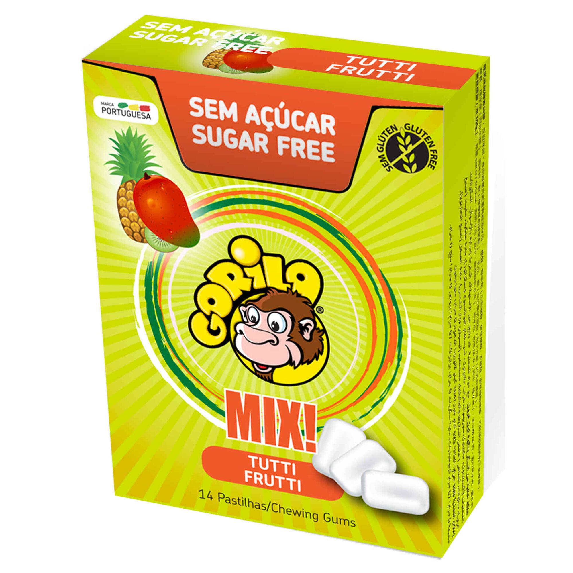 Pastilhas Elásticas de Tutti Frutti sem Açúcar e sem Glúten