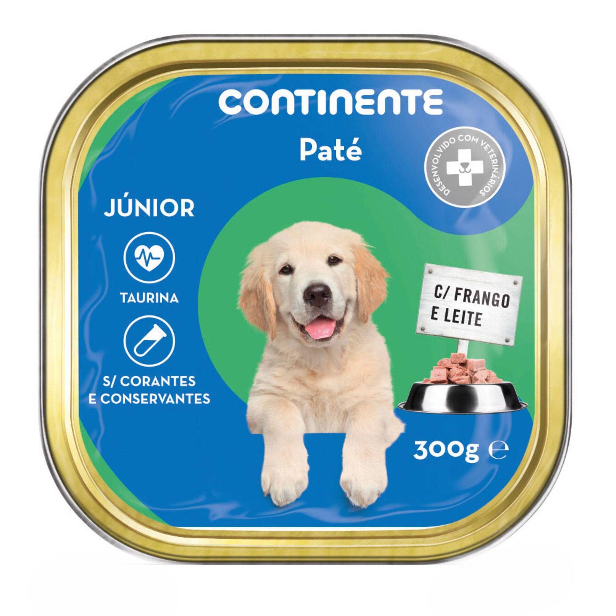 Comida Húmida para Cão Júnior Patê Frango e Leite Terrina