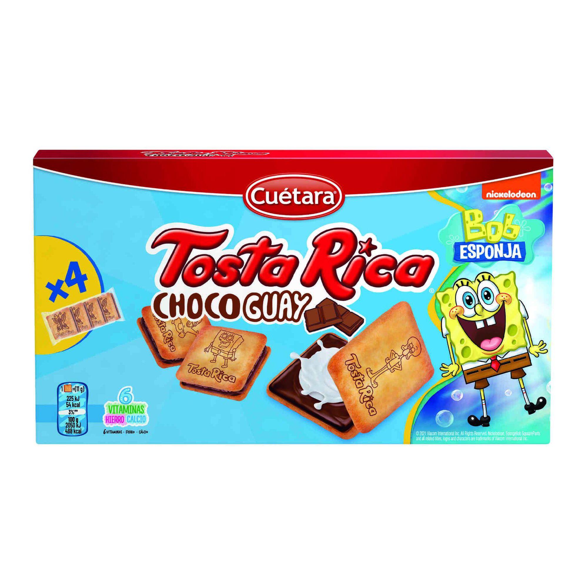 Bolachas com Recheio de Leite e Cacau Tosta Rica Choco Guay