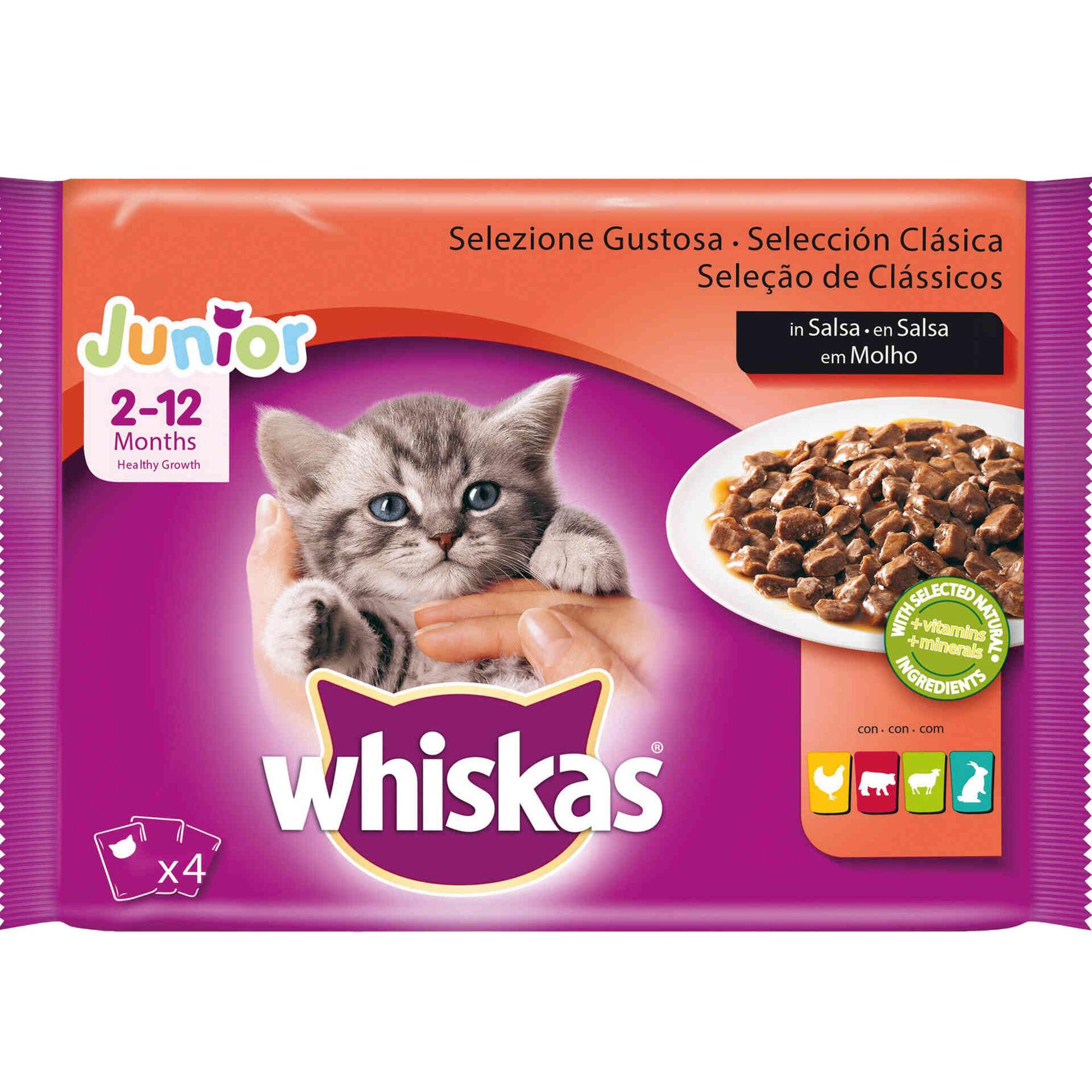Comida Húmida para Gato Júnior Carne Saquetas