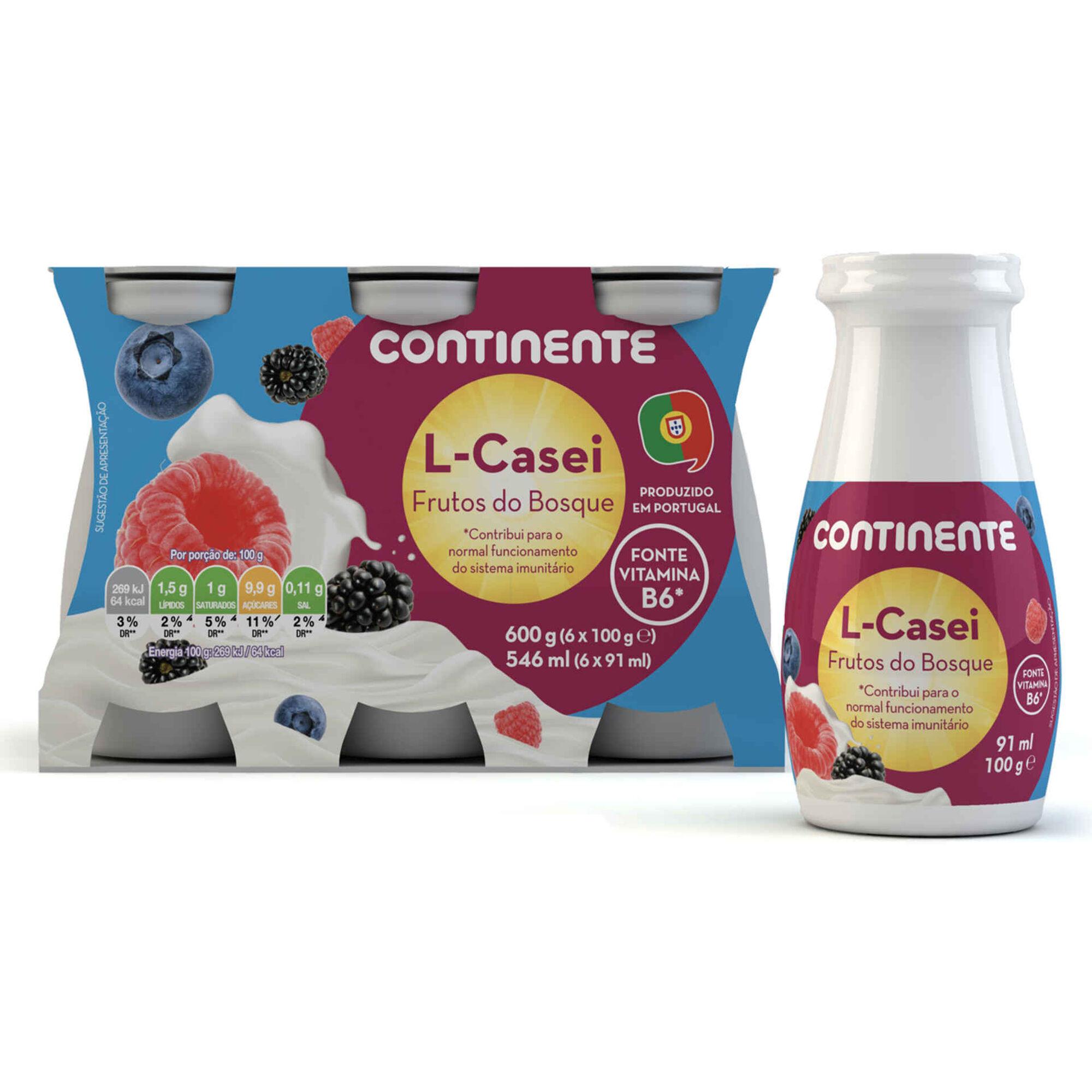 Iogurte Líquido Defesas Ativas Frutos do Bosque