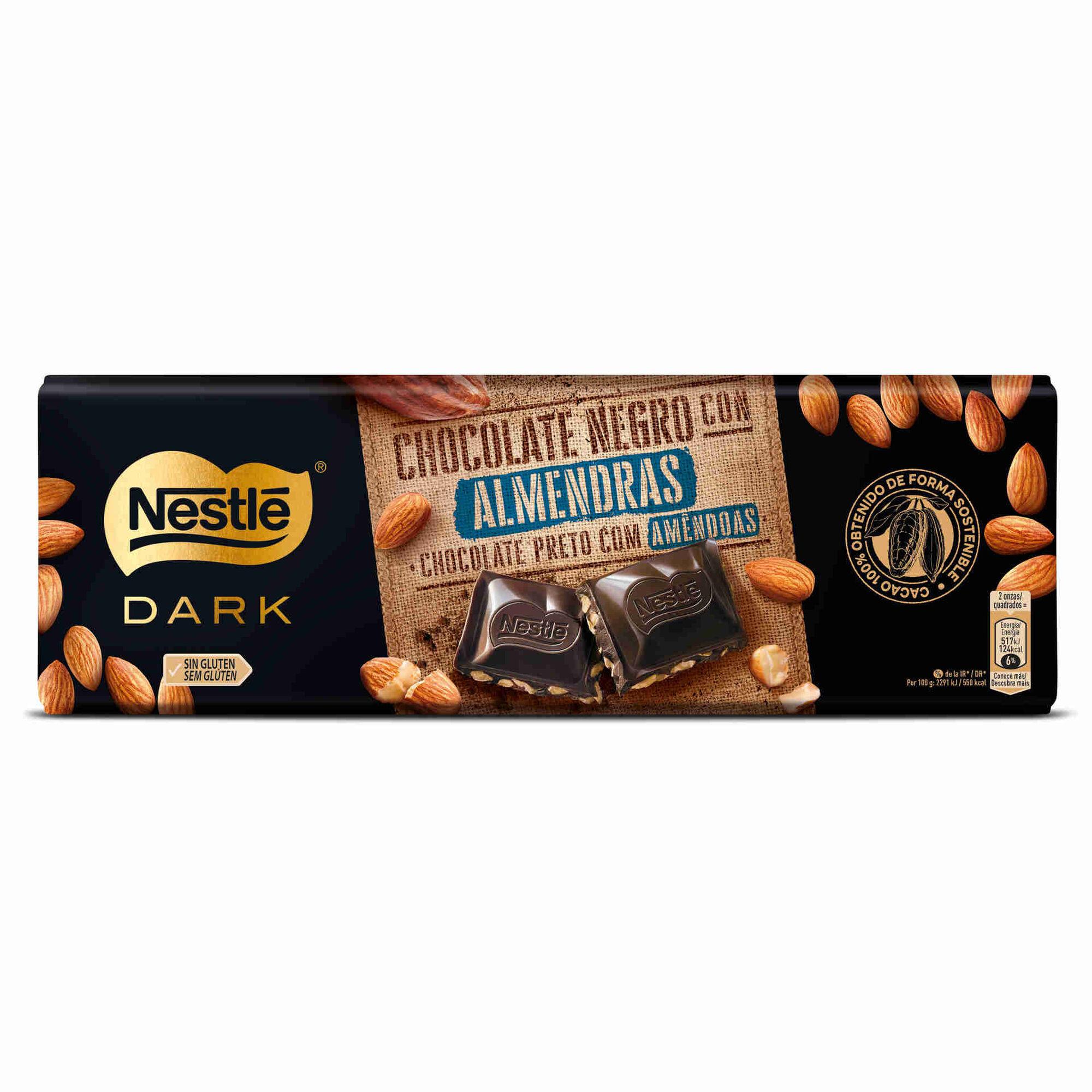 Tablete de Chocolate Negro com Amêndoa sem Glúten