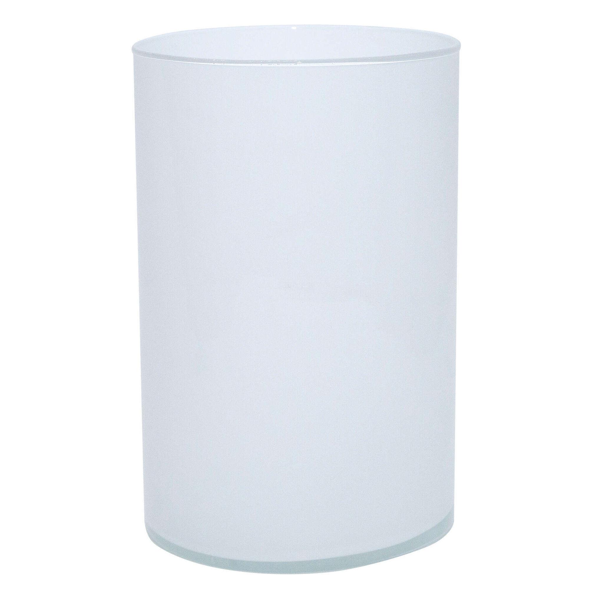 Vaso Redondo Vidro 27cm Branco