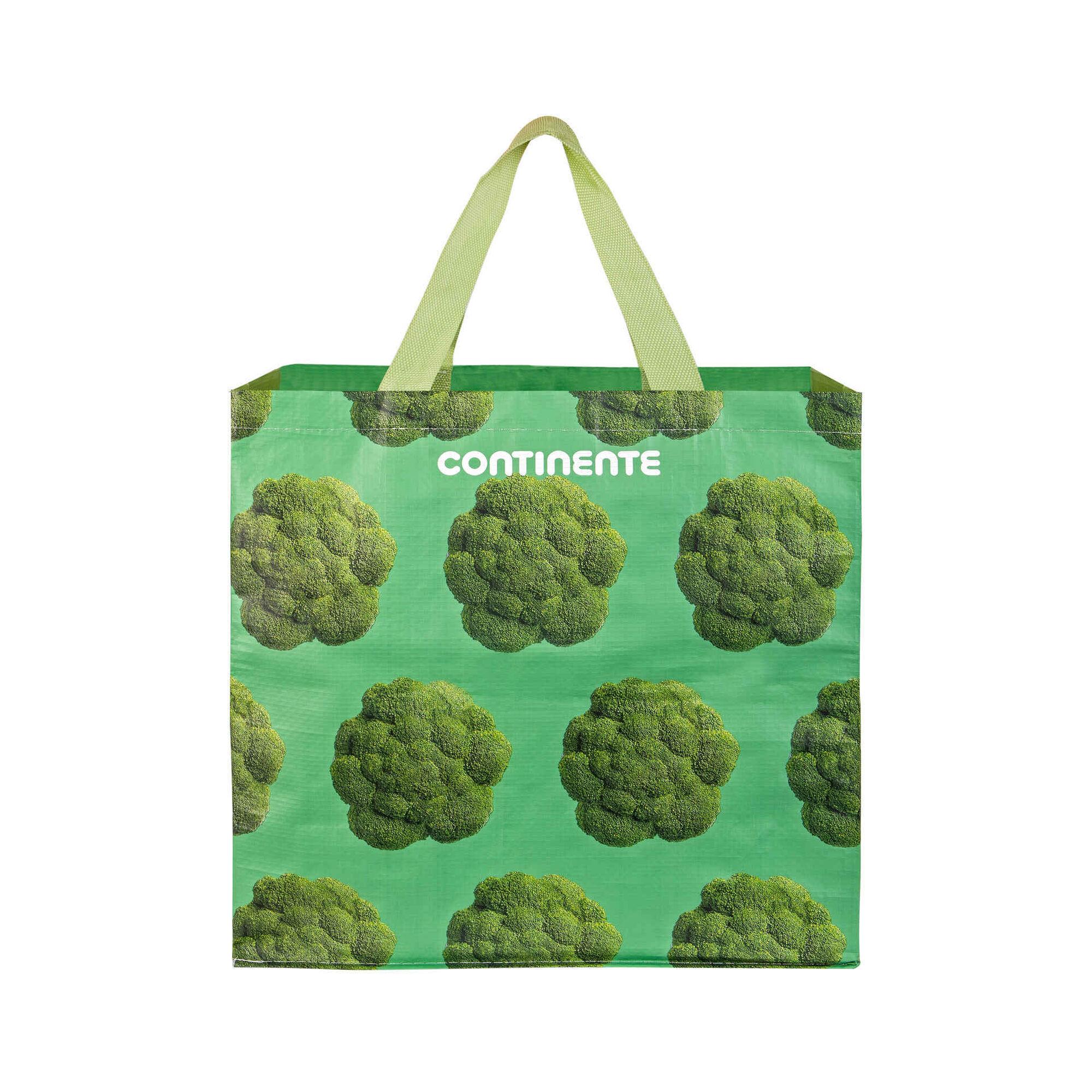 Saco Compras Reutilizável Ráfia Brócolos