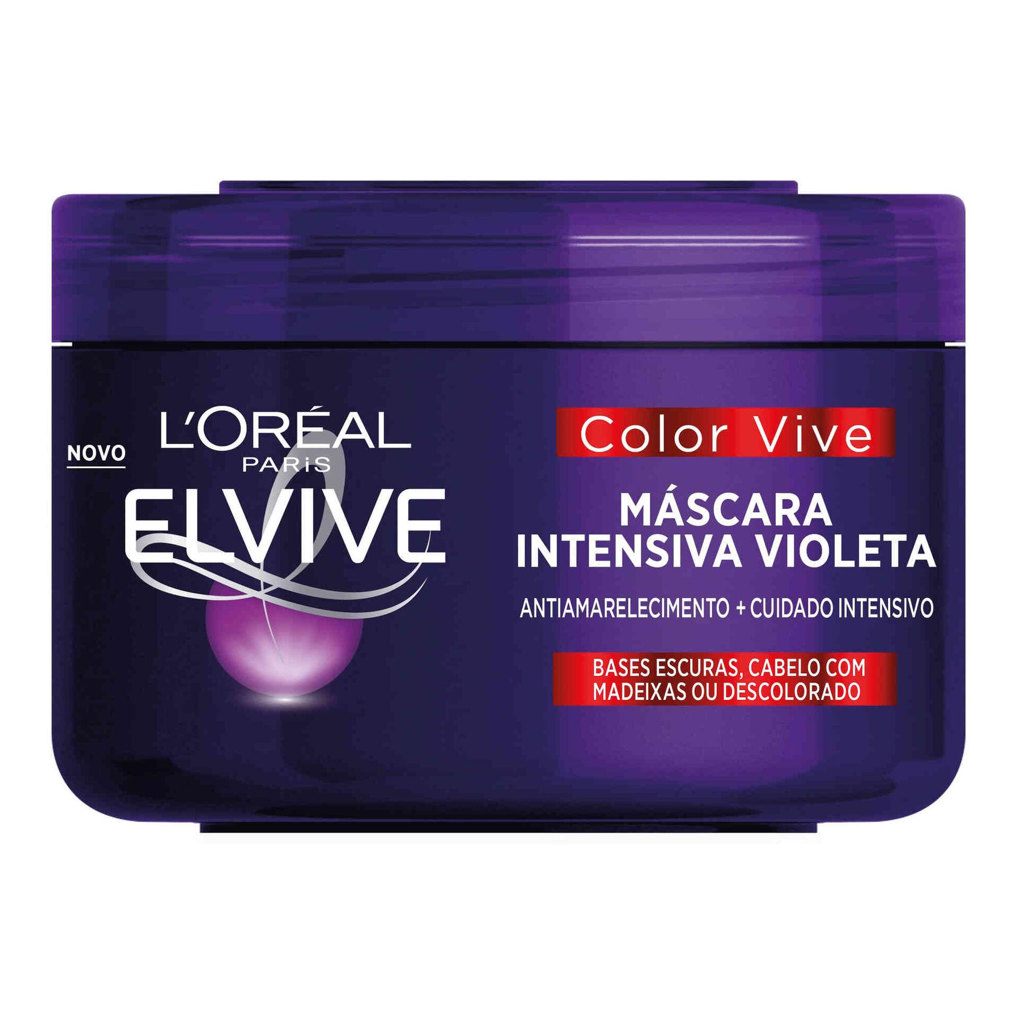 Máscara Cabelo Elvive Color Vive Intensiva Violeta
