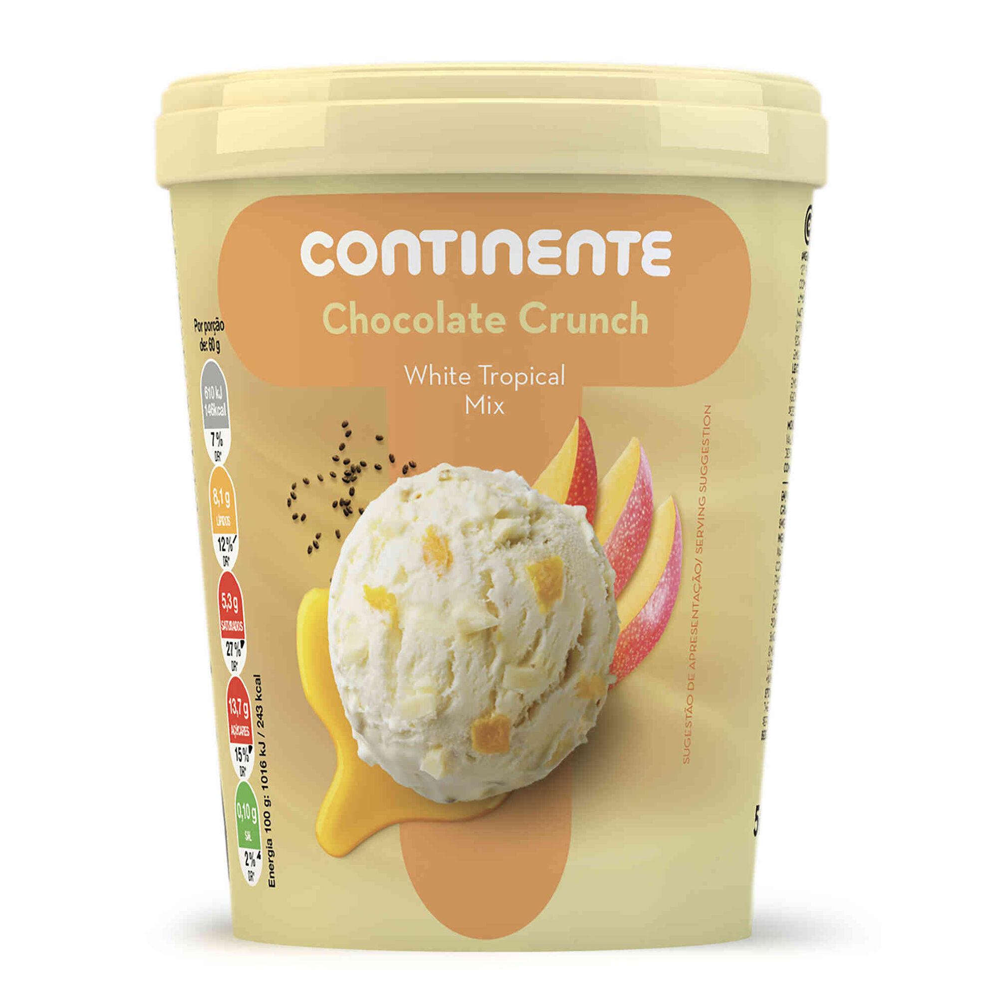 Gelado Chocolate Crunch White Tropical Mix