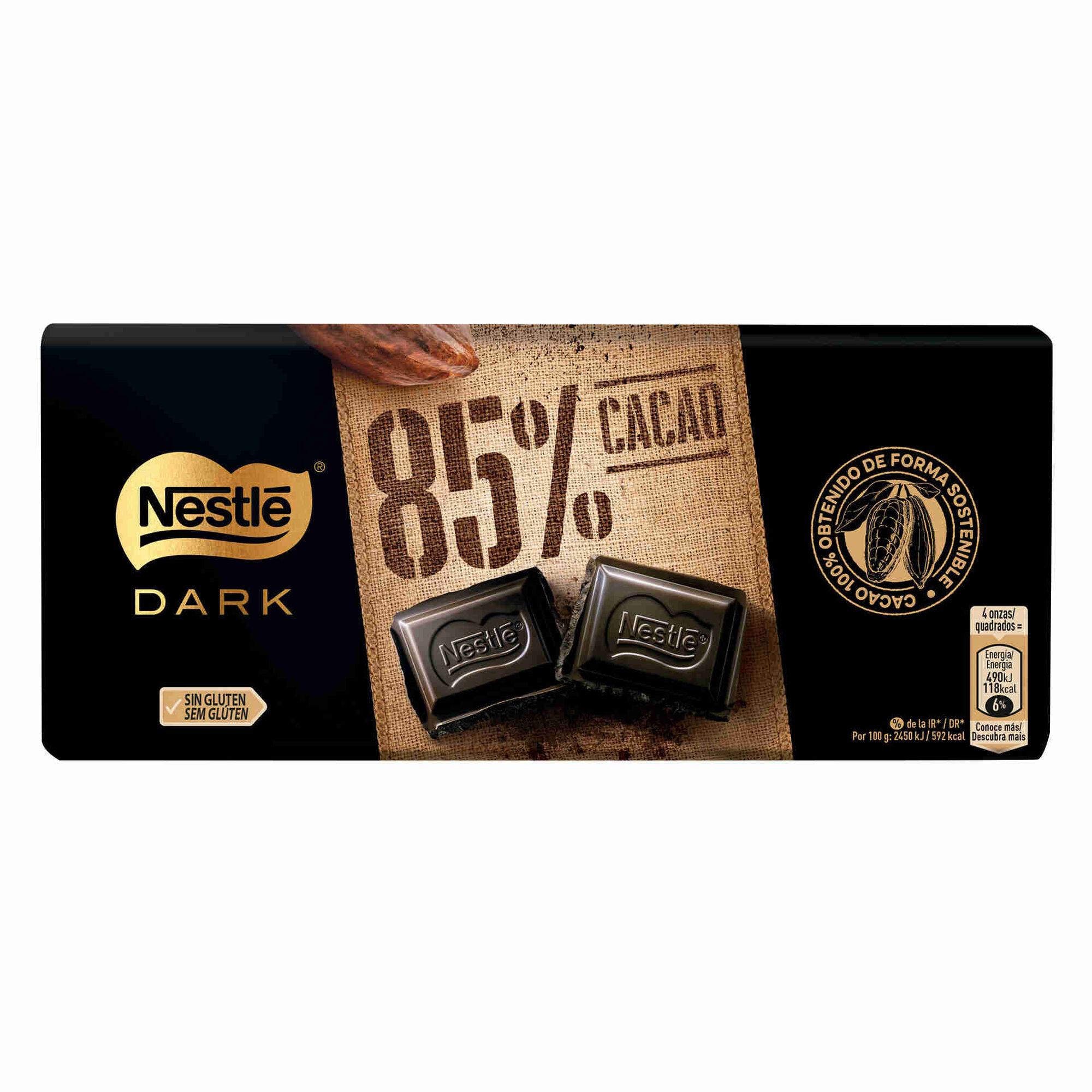 Tablete de Chocolate Negro 85% Cacau sem Glúten