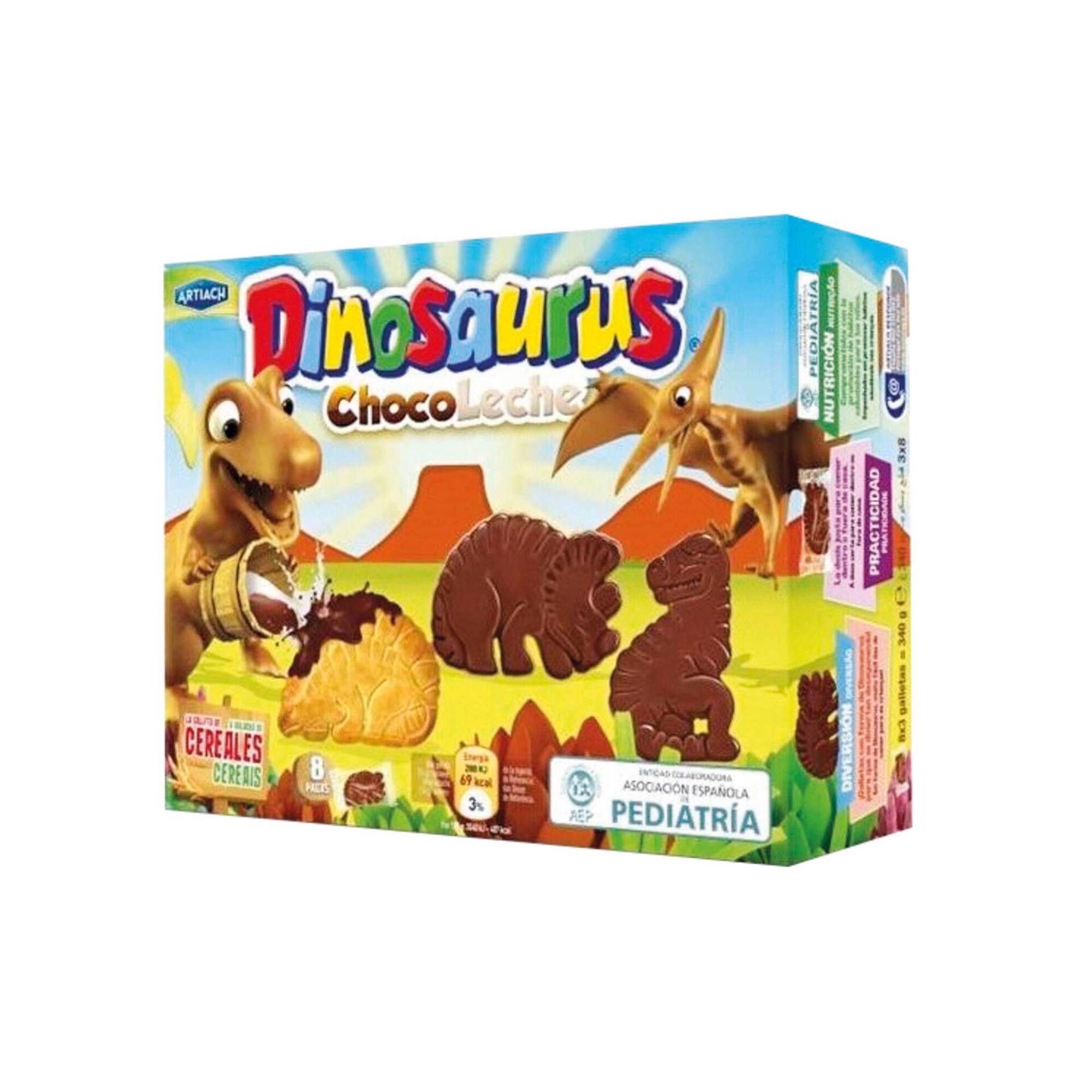 Bolachas Dinossauros de Chocolate de Leite