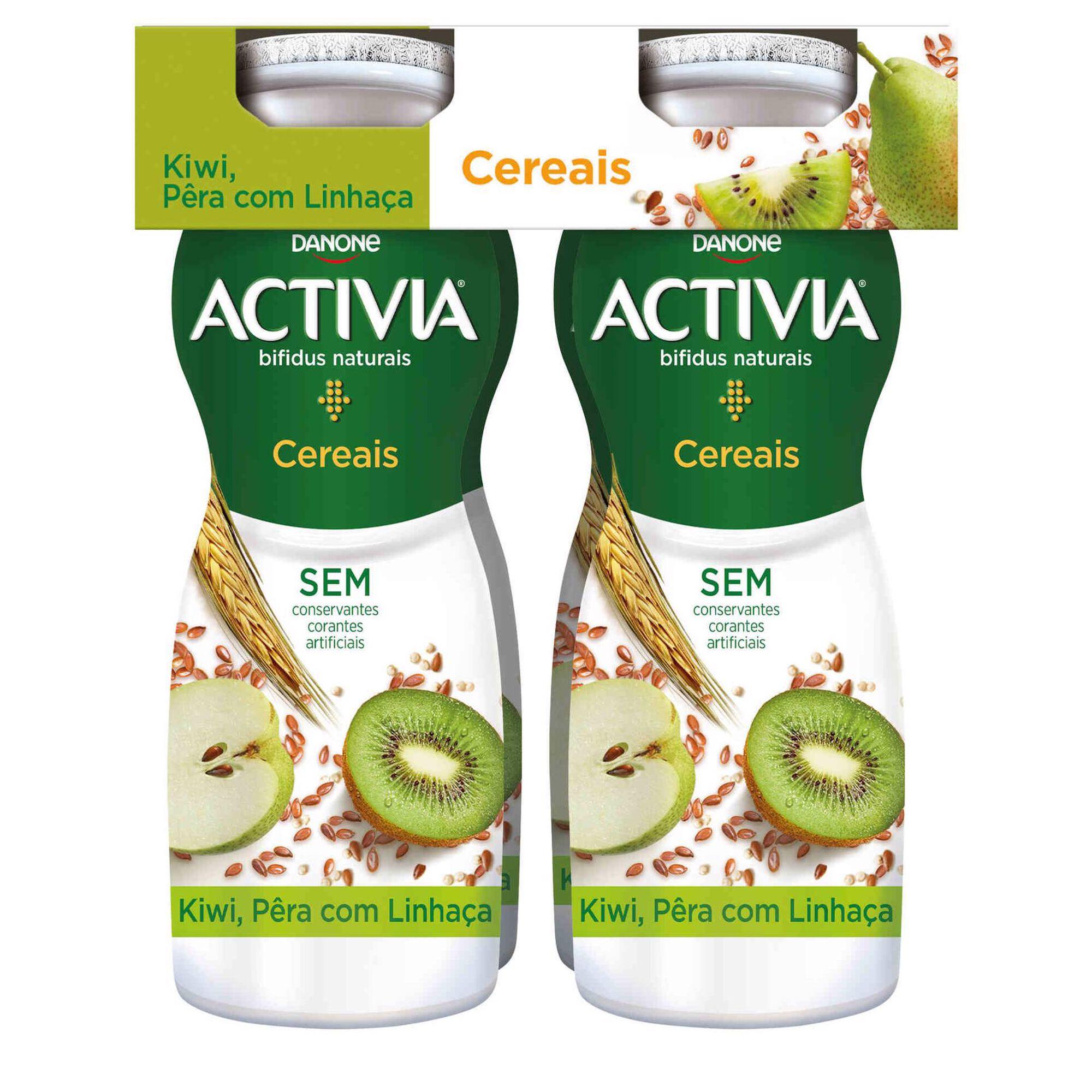 Iogurte Líquido Bifidus Probiótico Kiwi, Pera e Linhaça Activia