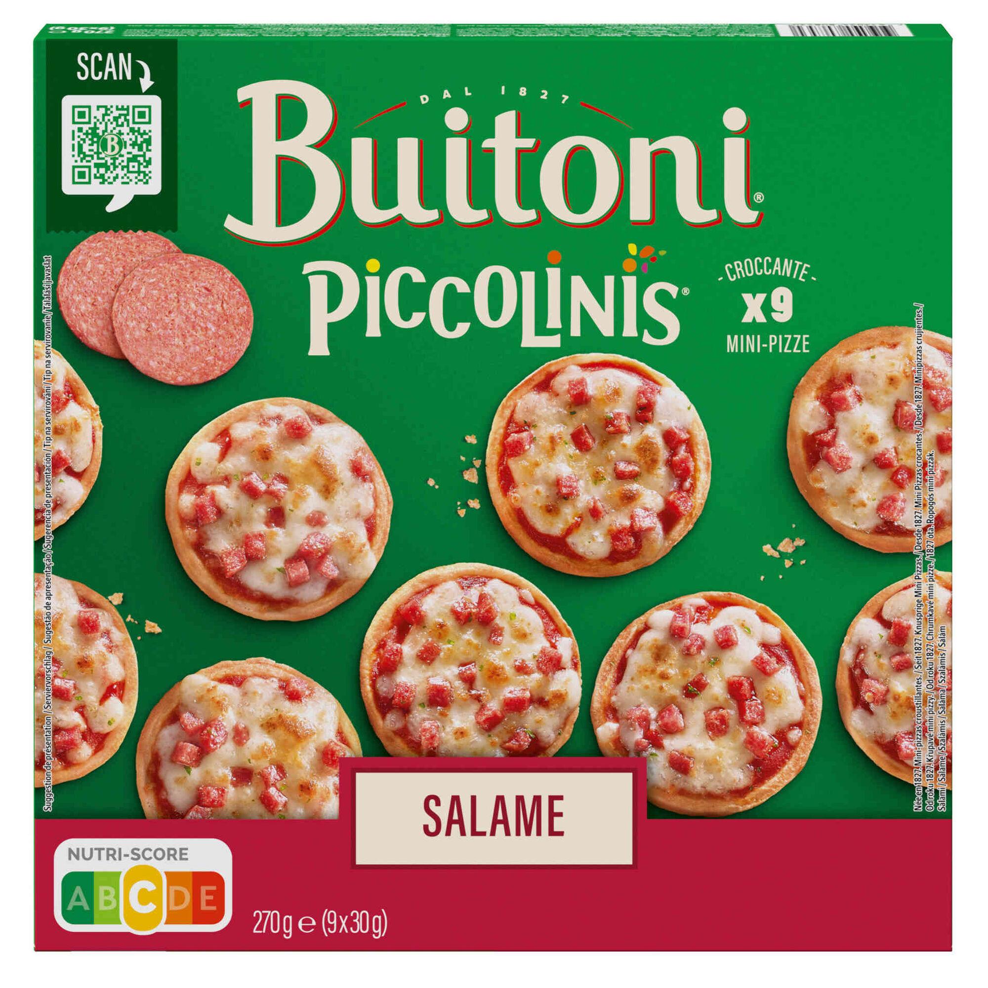 Mini Pizzas Piccolinis de Salame
