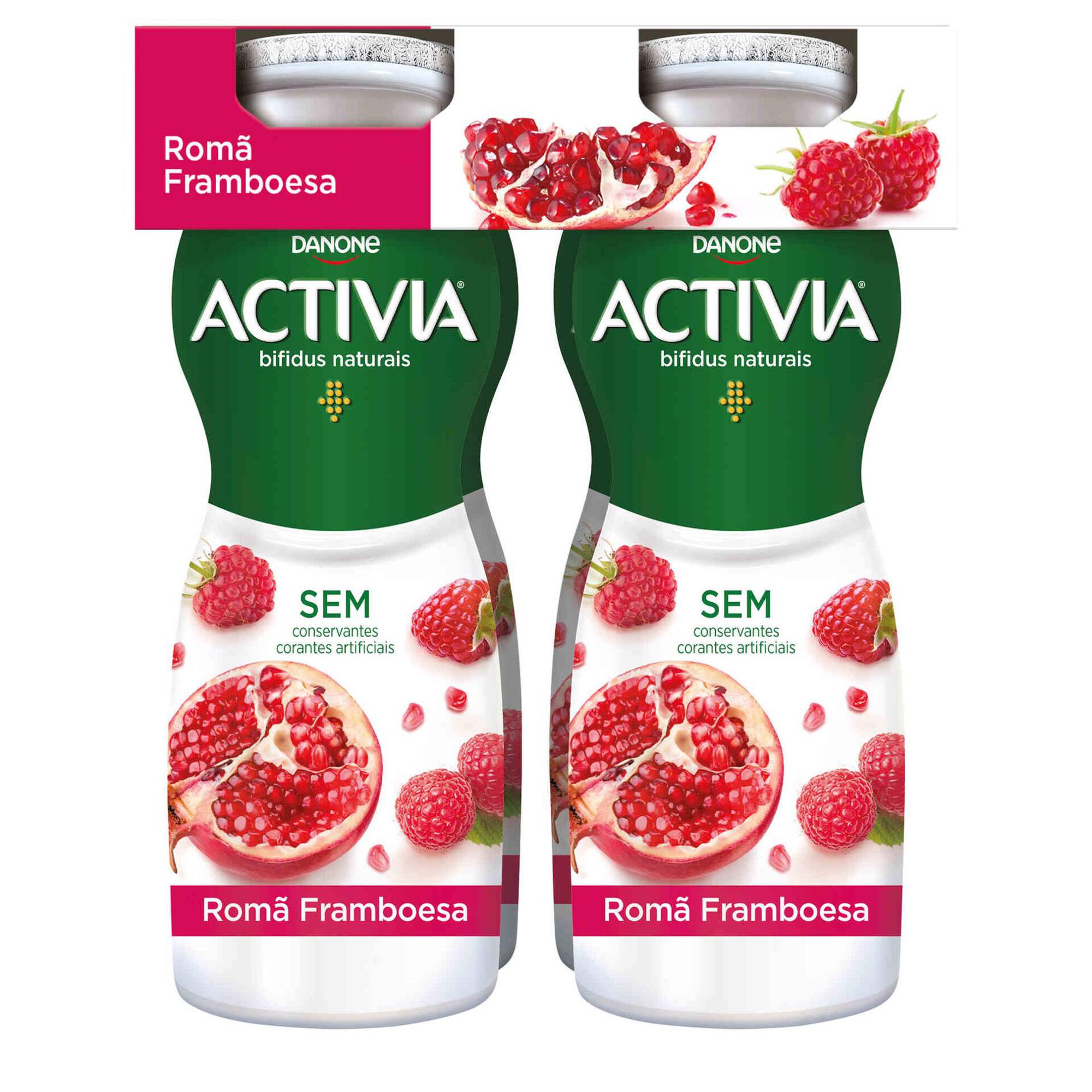 Iogurte Líquido Bifidus Probióticos Framboesa e Romã Activia