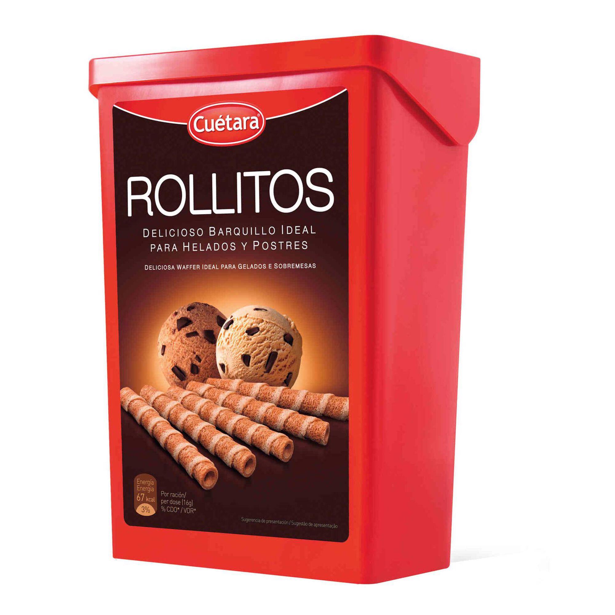 Biscoitos Wafer Rolitos