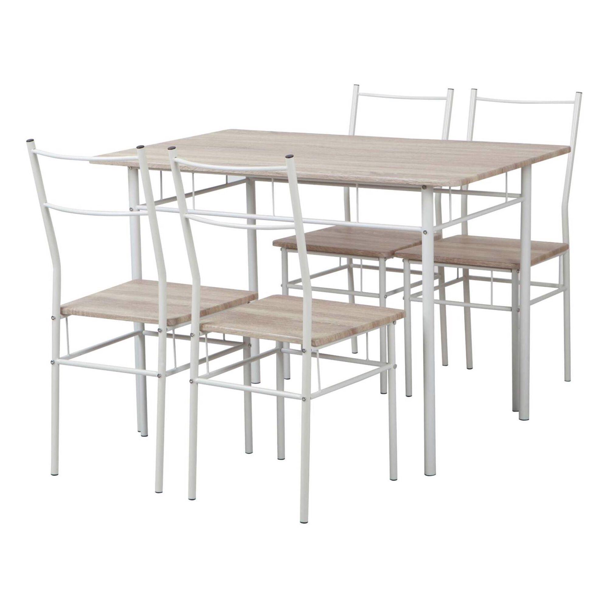 Conjunto Mesa 110x70cm e 4 Cadeiras Wood