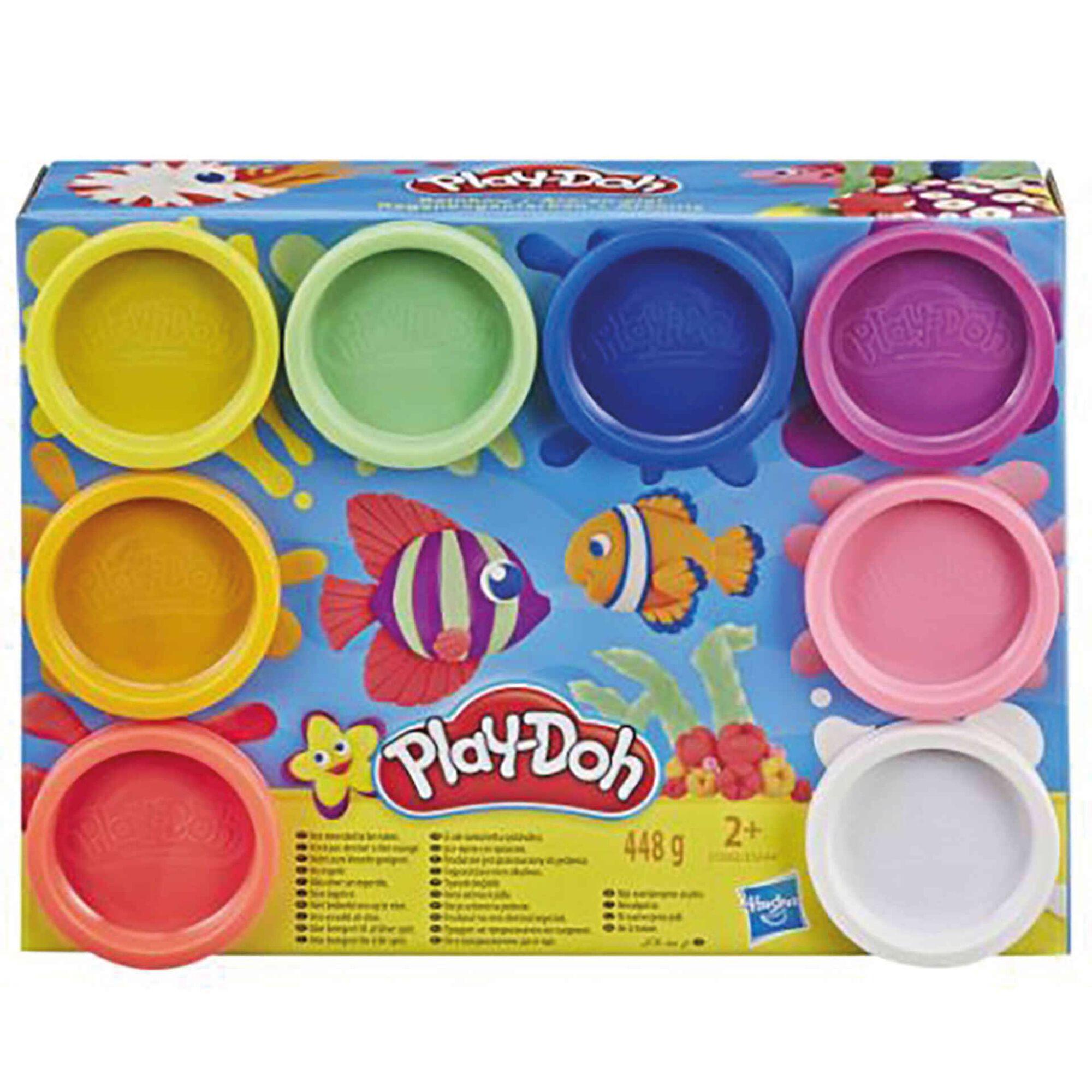 Plasticina Pack 8 Potes