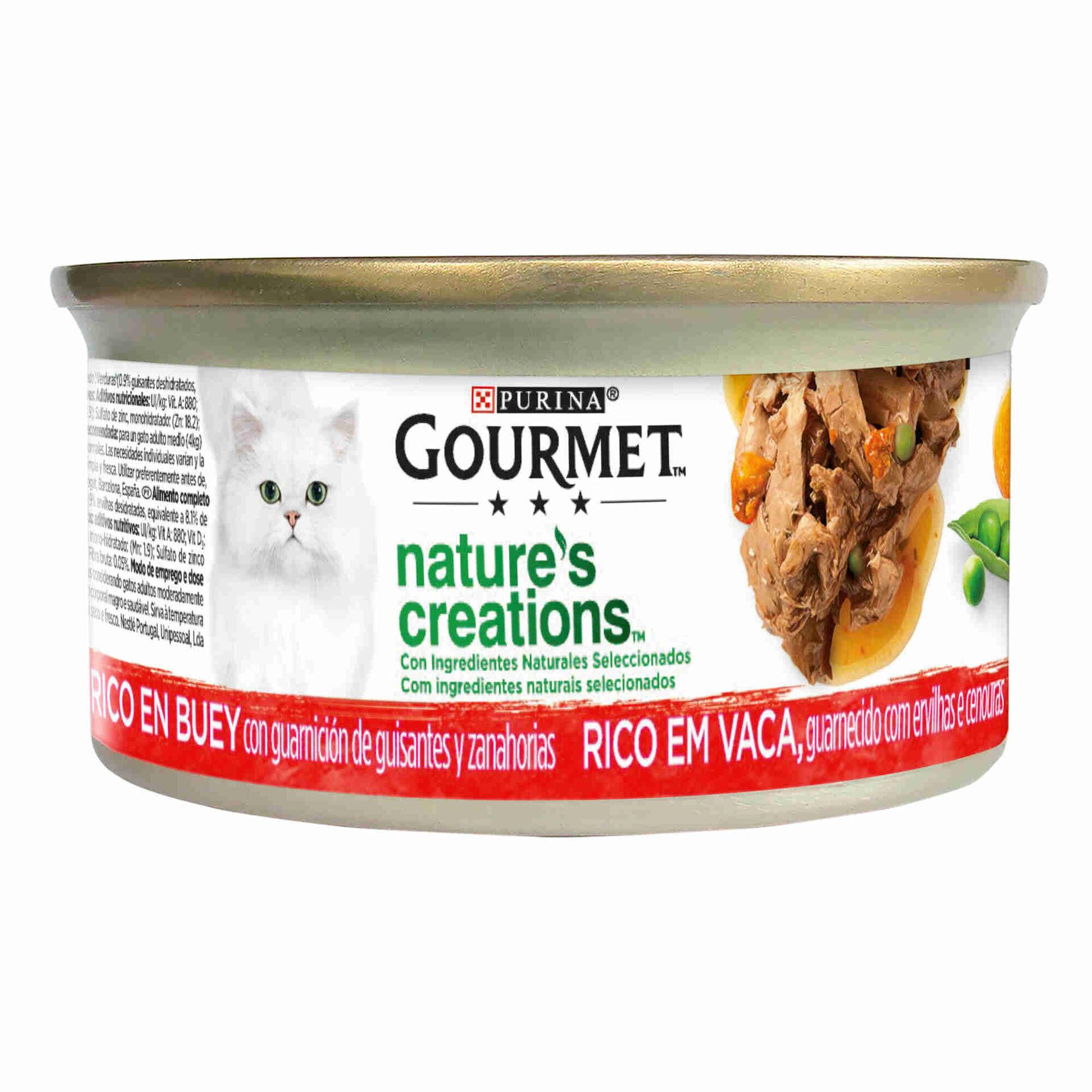 Comida Húmida para Gato Adulto Vaca Lata