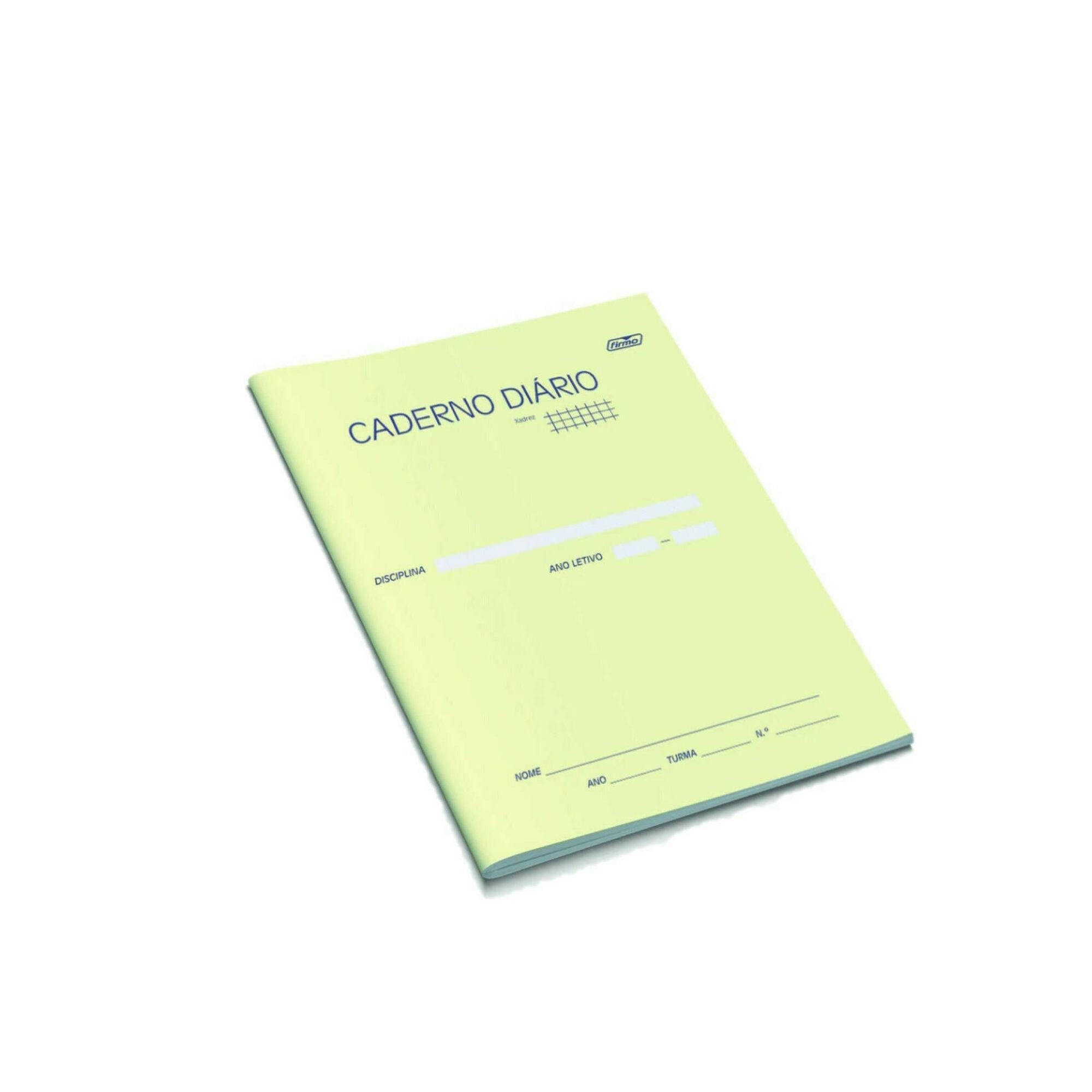 Caderno Diário Agrafado A5 Quadriculado