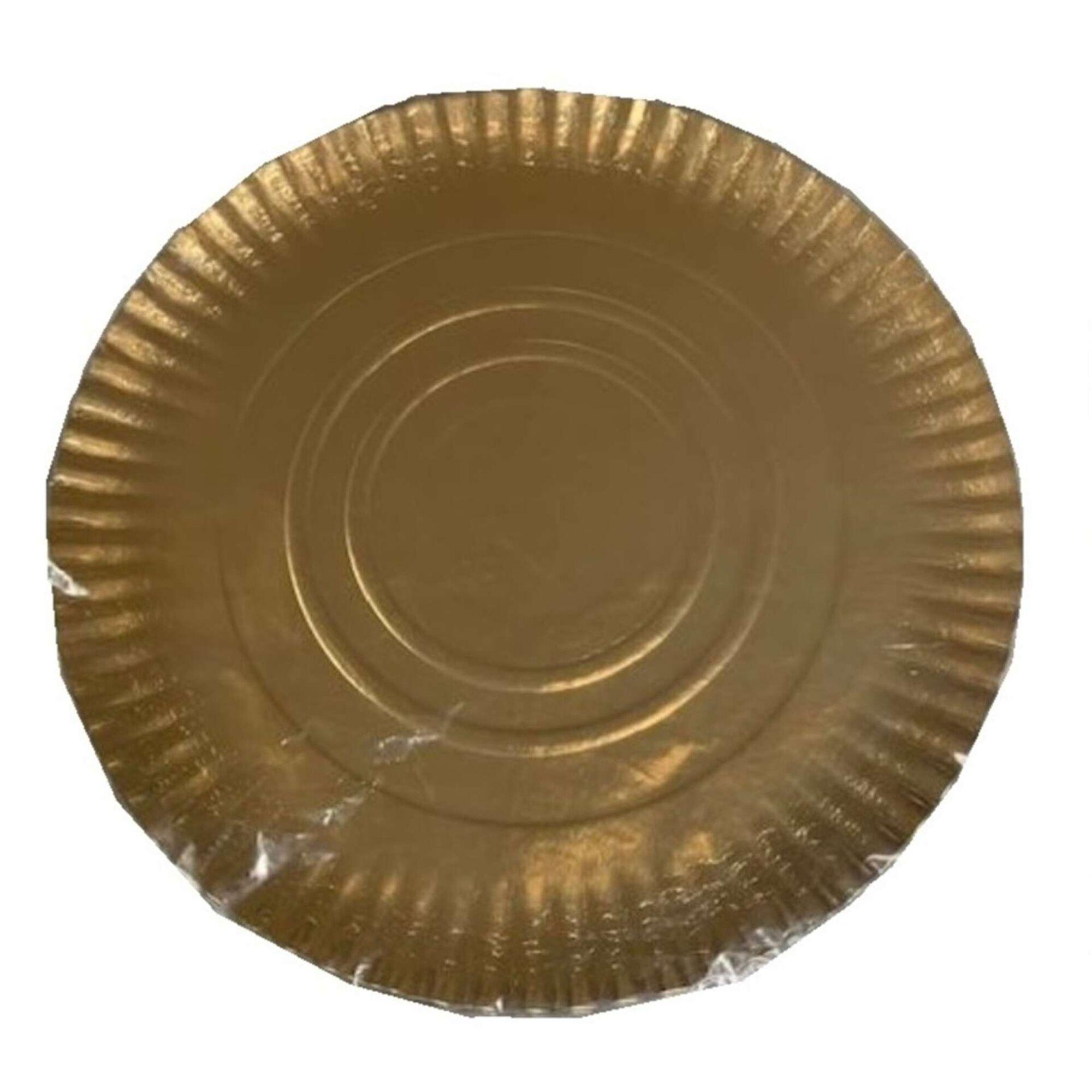 Pratos Bolos 32cm Dourados