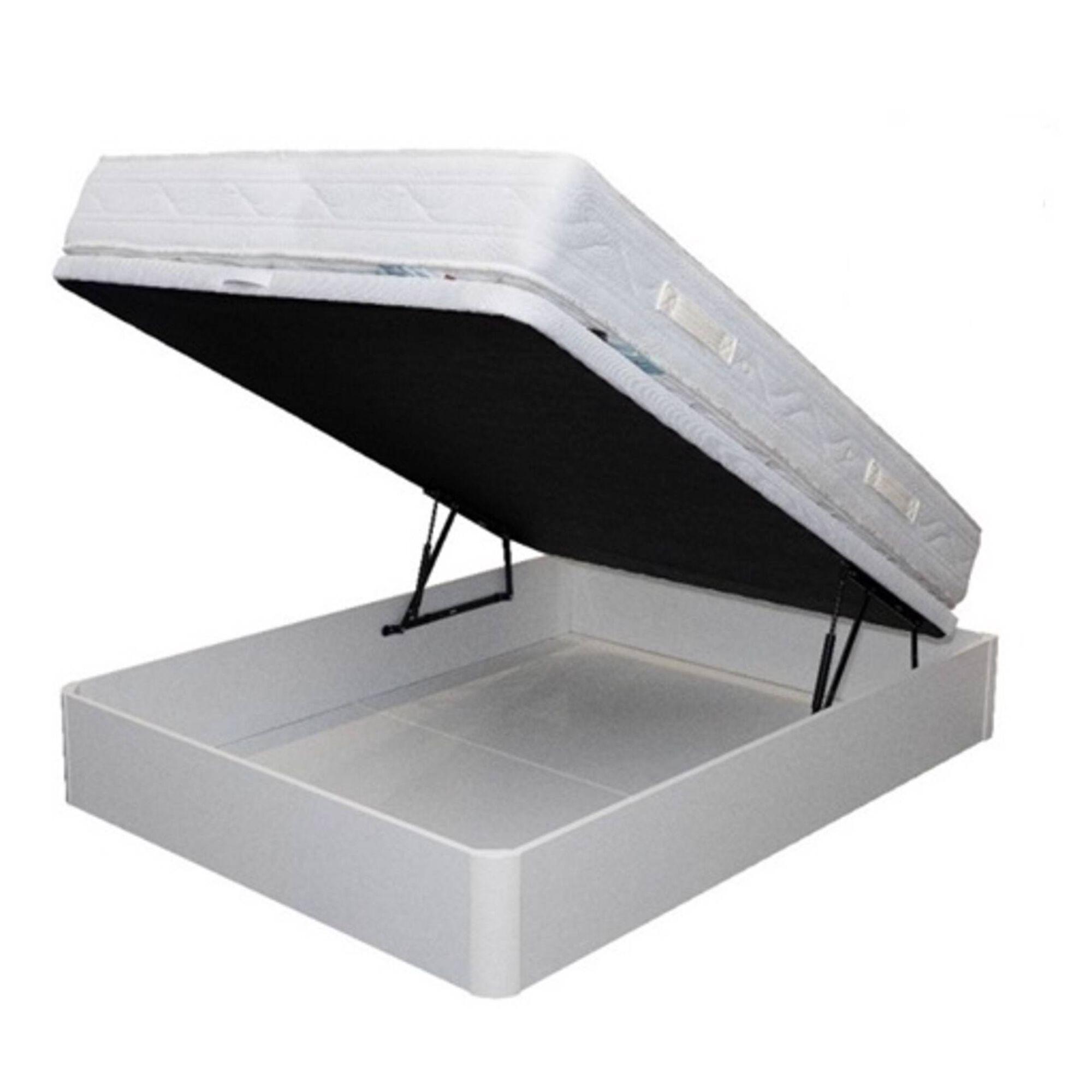 Conjunto Colchão e Base Branca Casal 150x200cm Sleep