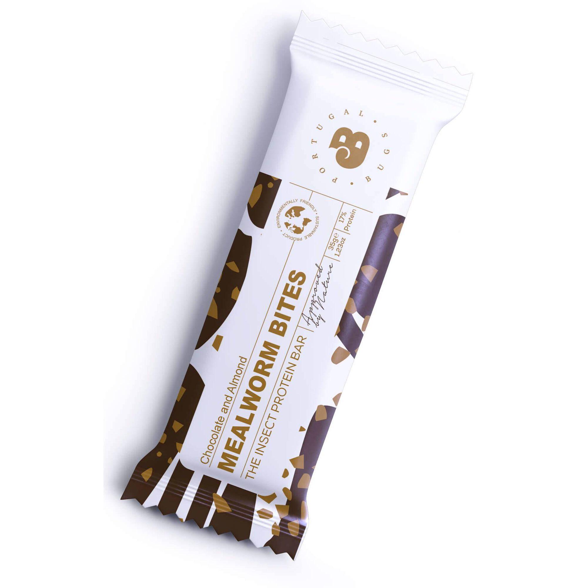 Barra Proteica Tenebrio, Chocolate e Amêndoa Mealworm Bites