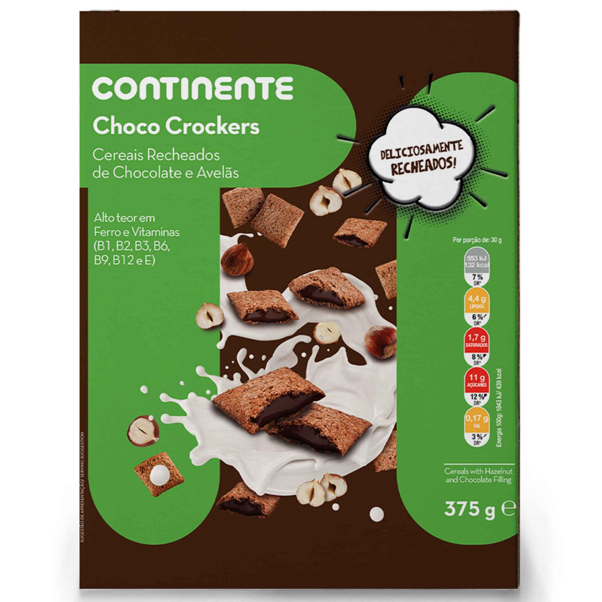 Cereais com Recheio Chocolate e Avelã