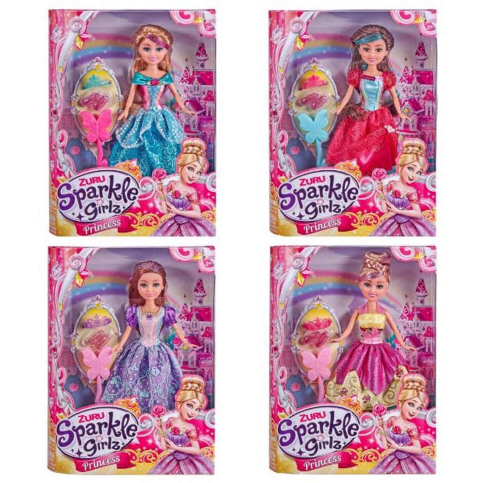 Princesa Sparkle Girlz com 4 Acessórios (vários modelos)
