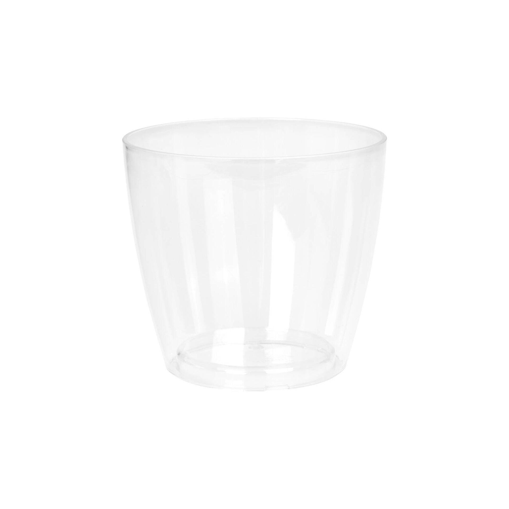Vaso Redondo Plástico 12cm Transparente