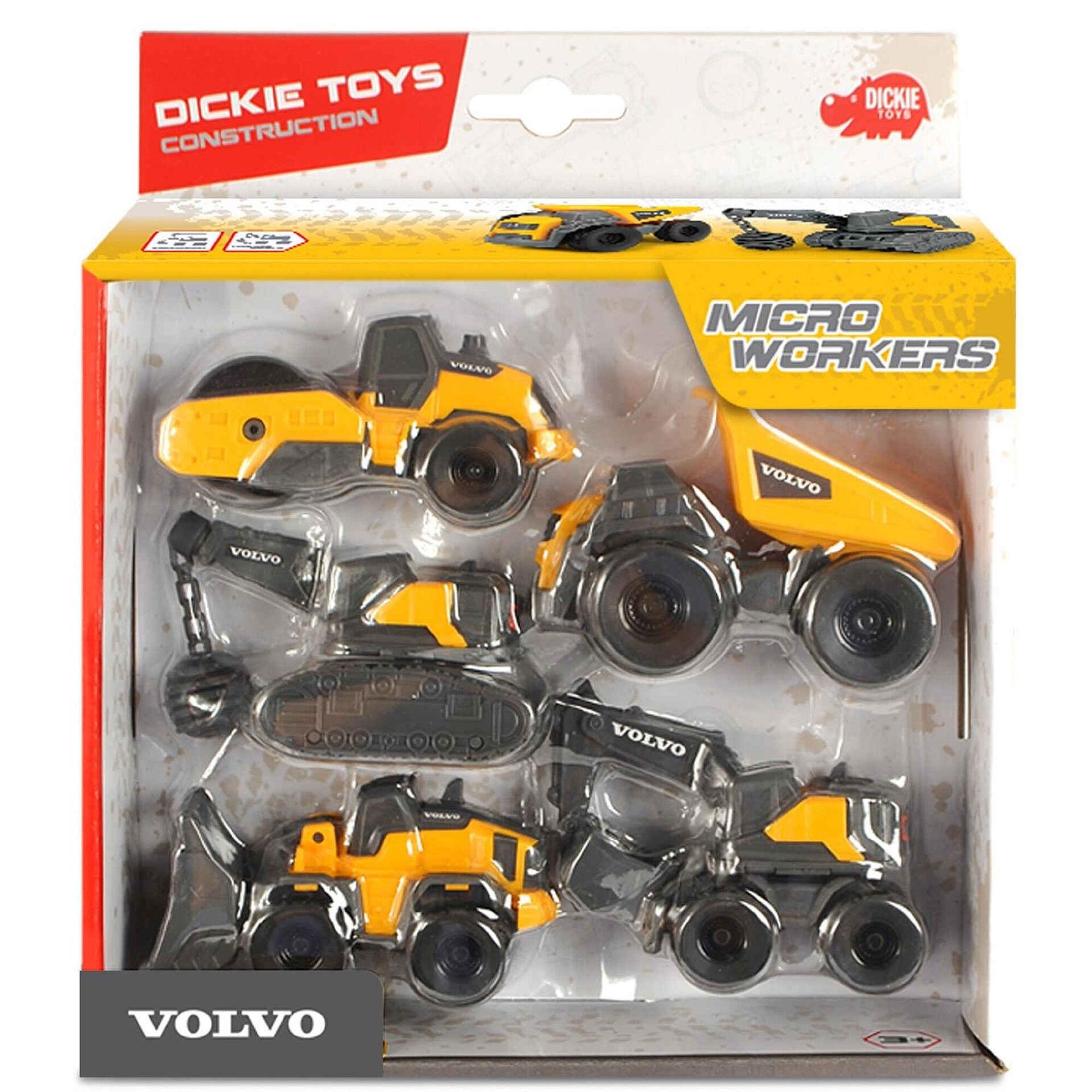 Conjunto 5 Veículos - Construção Volvo Mini