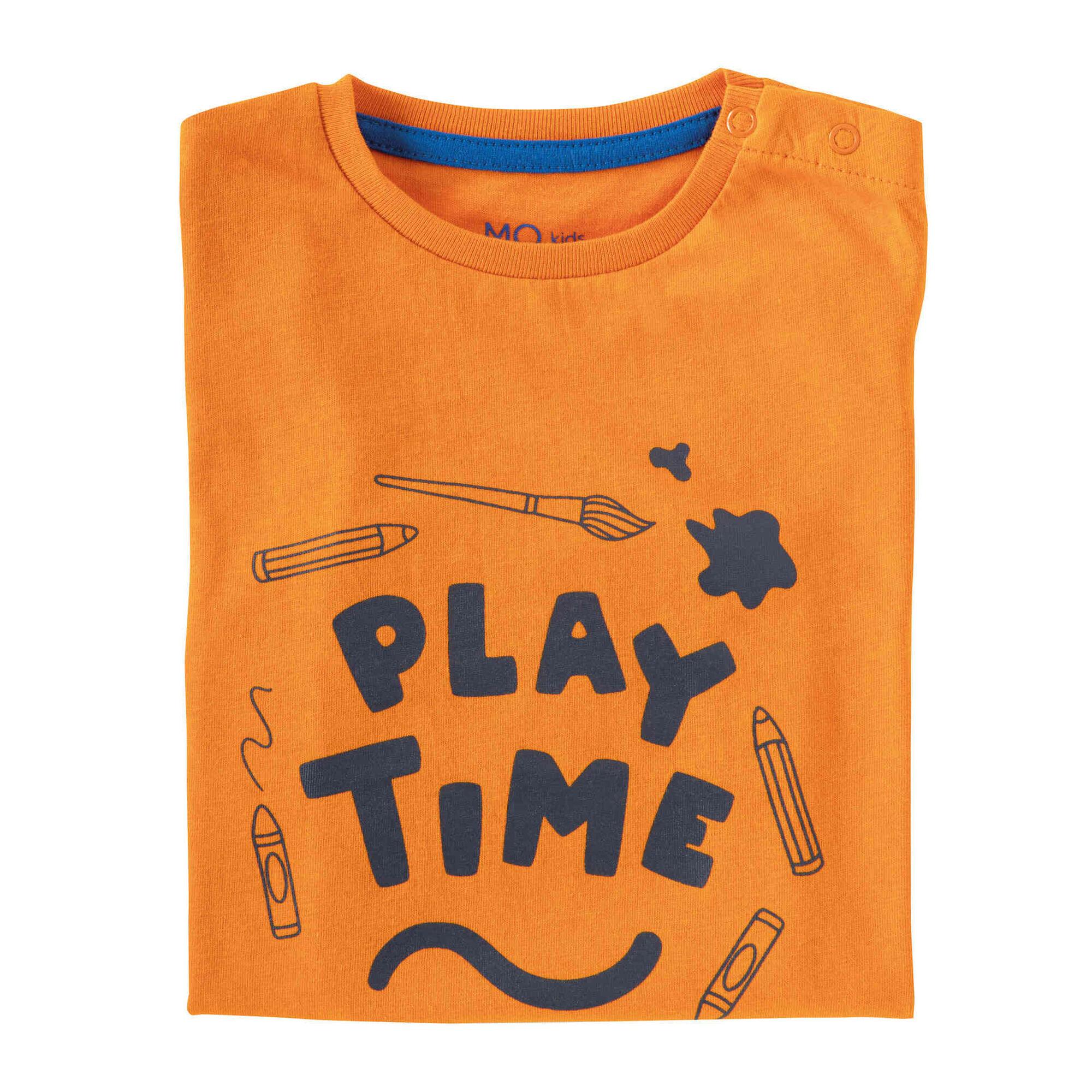 T-shirt Manga Comprida Laranja