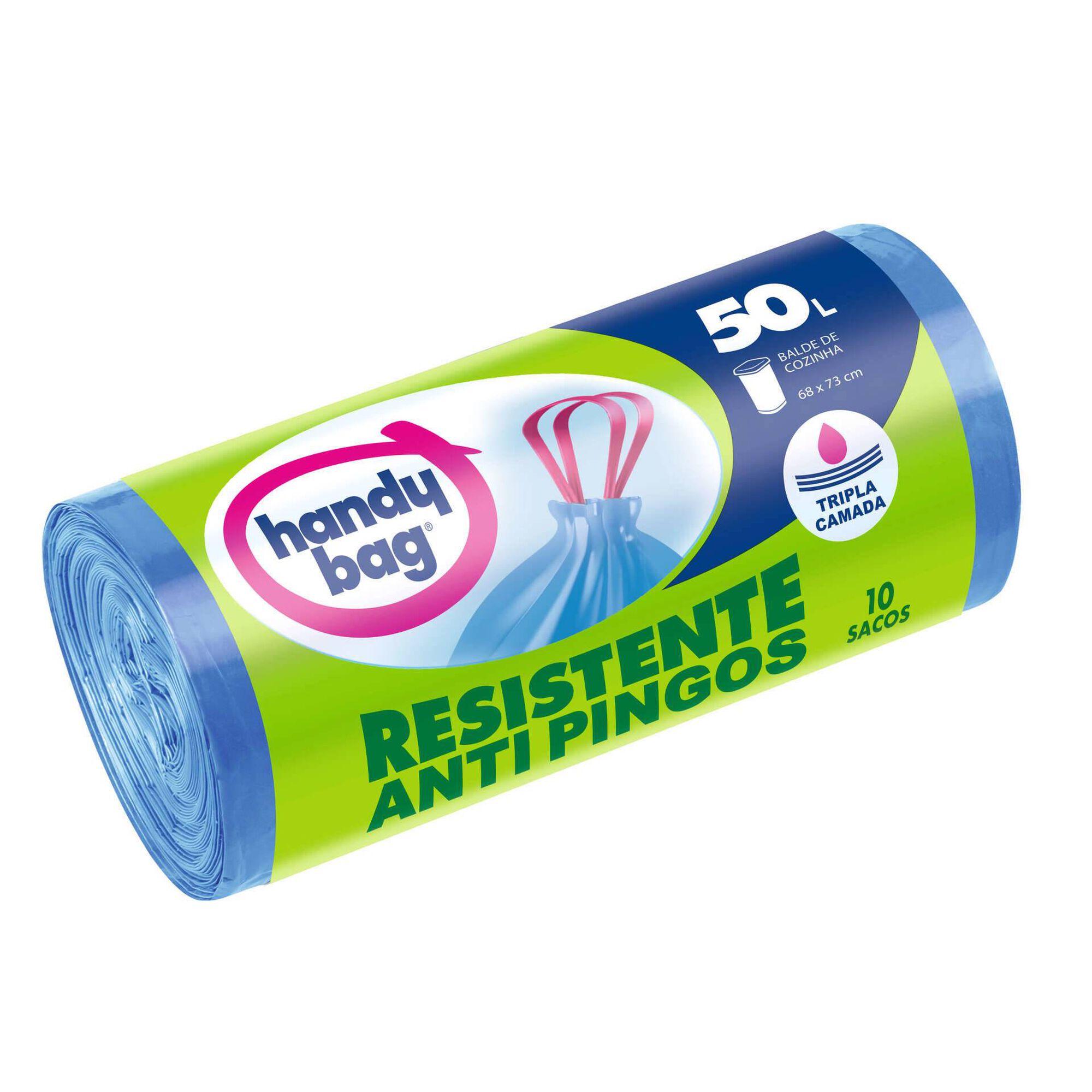 Sacos Lixo Anti-Pingos 50 lt