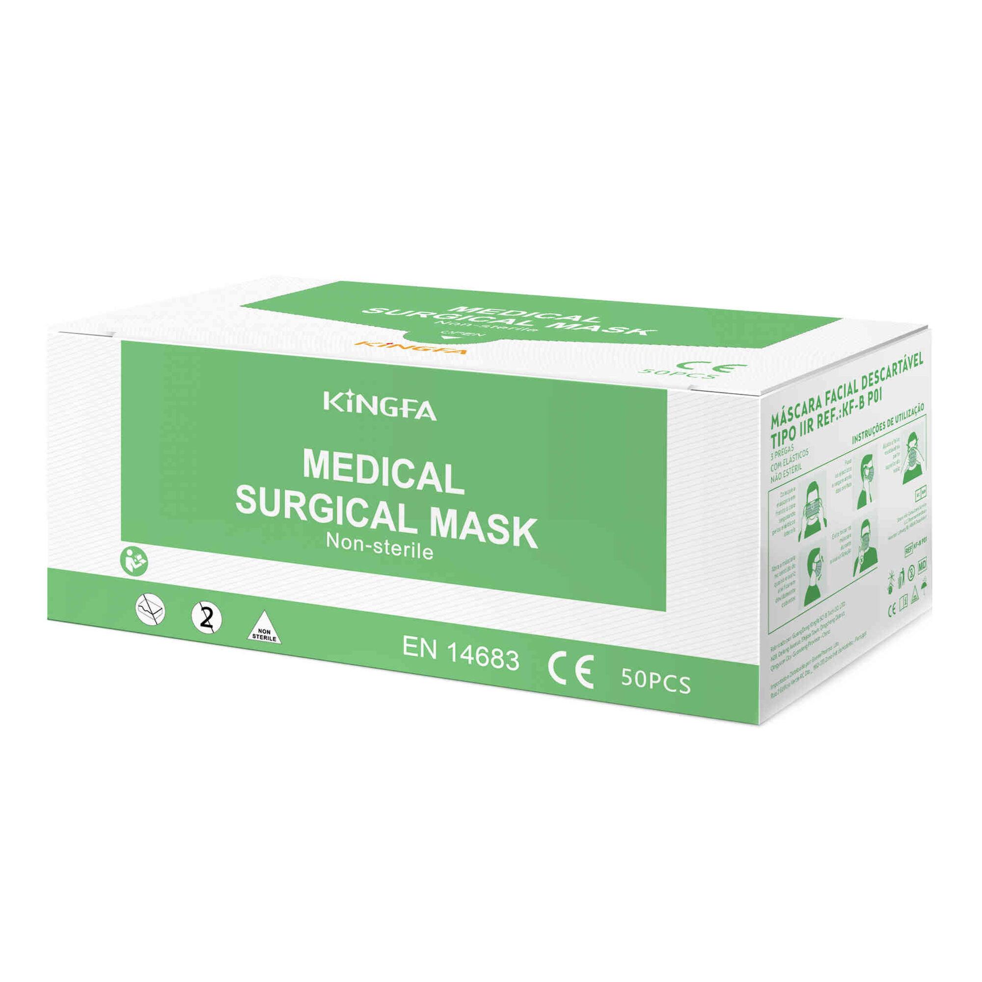 Máscaras Cirúrgicas Tipo IIR 98% KF-B P01