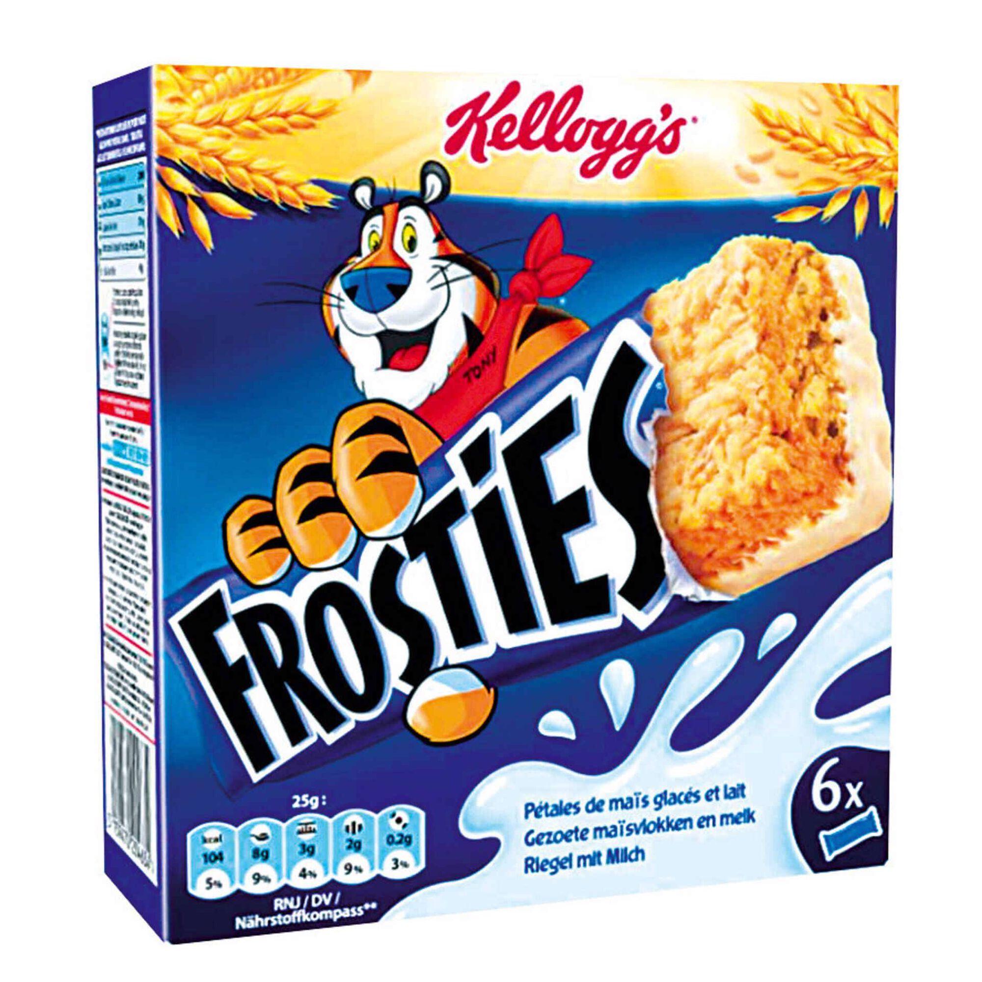 Barras de Cereais Frosties com Leite