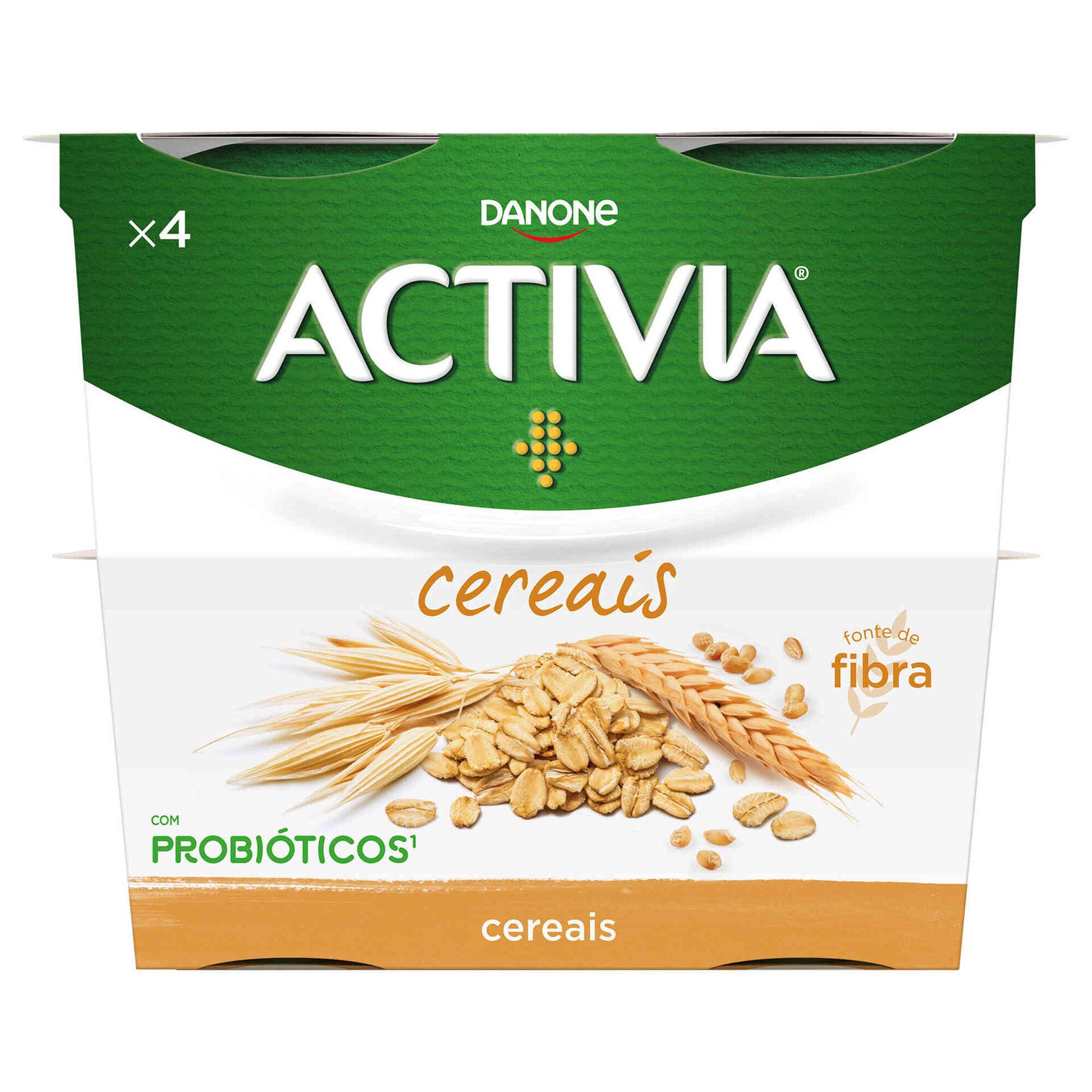 Iogurte Bifidus Pedaços Probióticos Cereais Integrais Activia