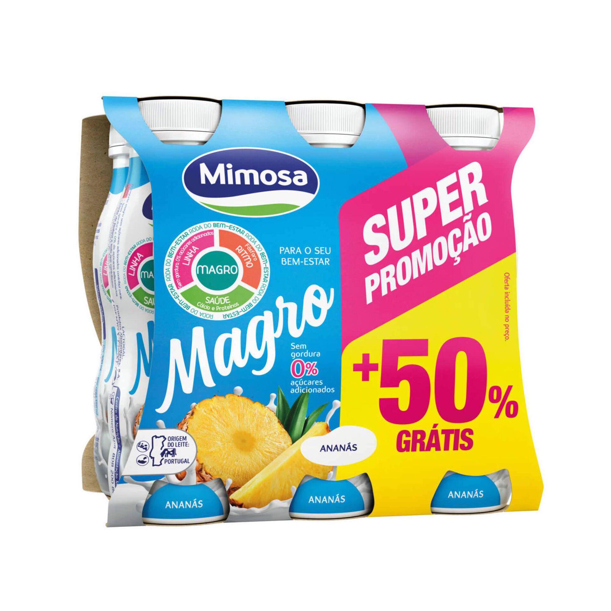 Iogurte Líquido Magro Ananás