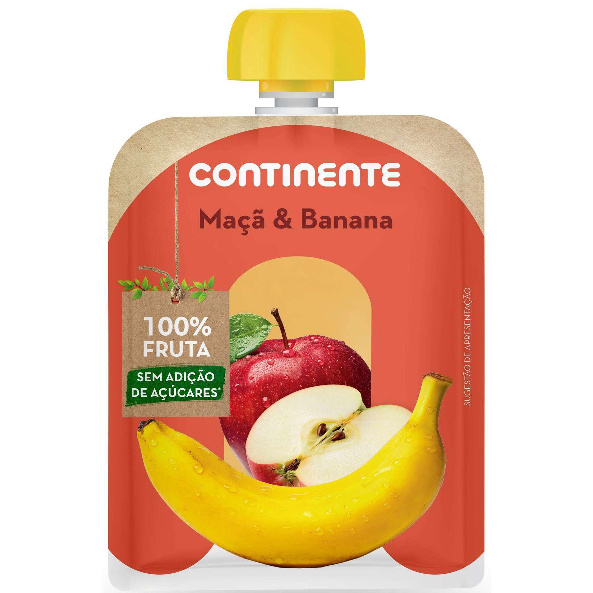 Saqueta de Fruta Maçã e Banana
