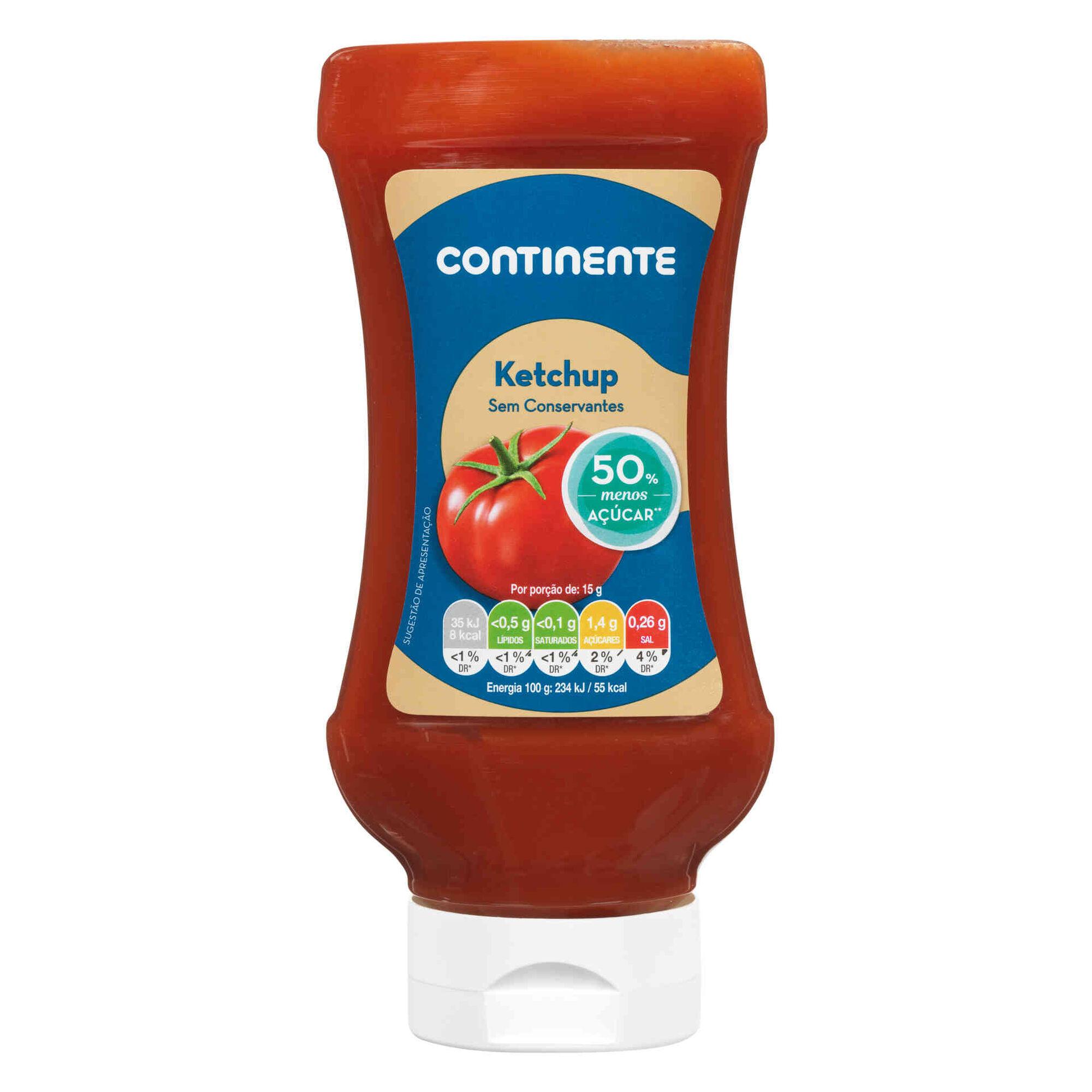 Ketchup com Redução de Açúcar Top Down