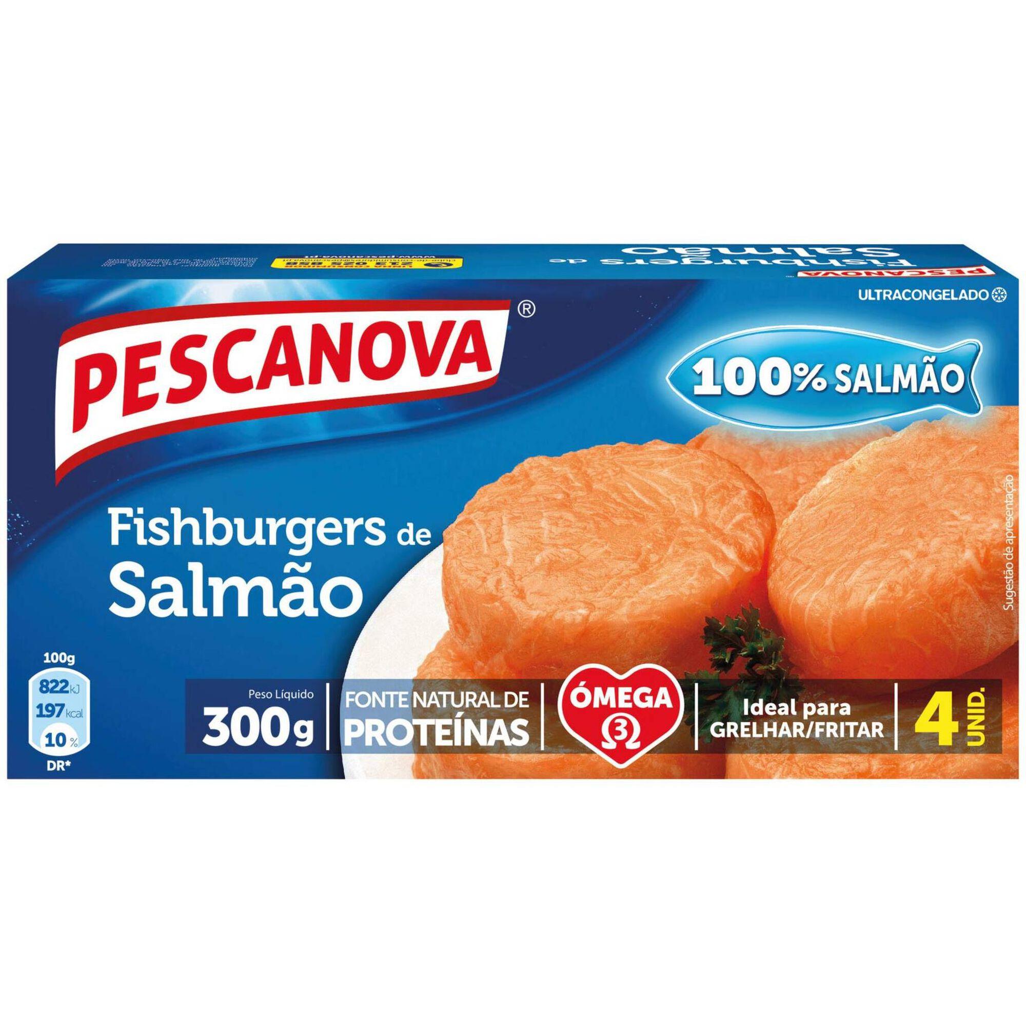 Fishburgers de Salmão Congelado