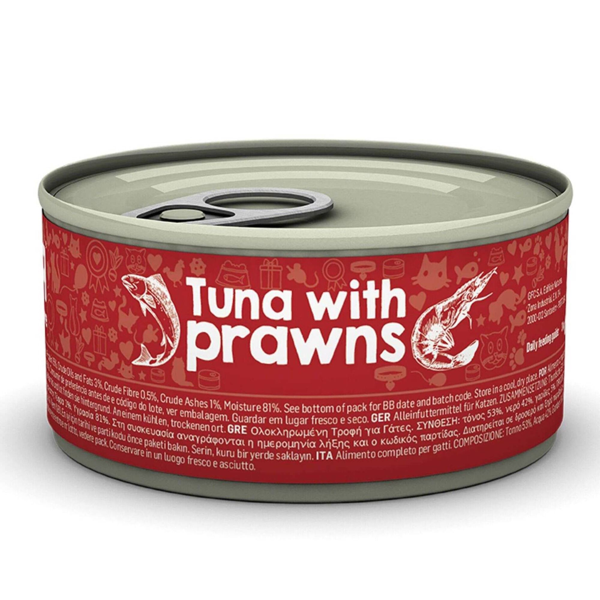 Comida Húmida para Gato Adulto Atum e Camarão Lata