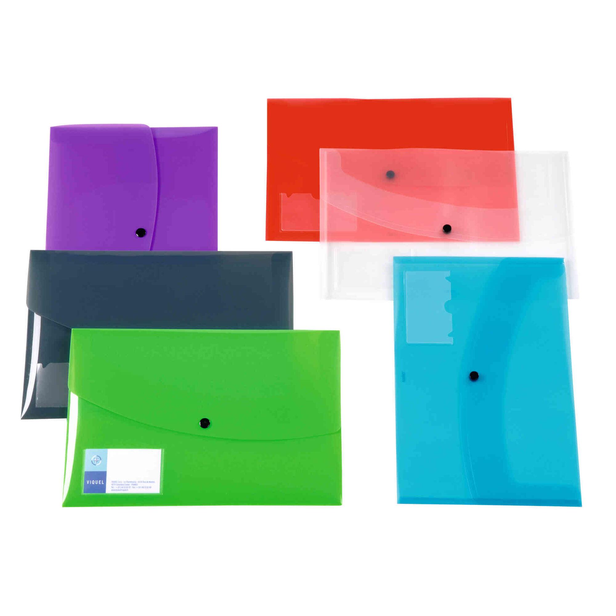 Classificador Envelope com Mola A4 (várias cores)