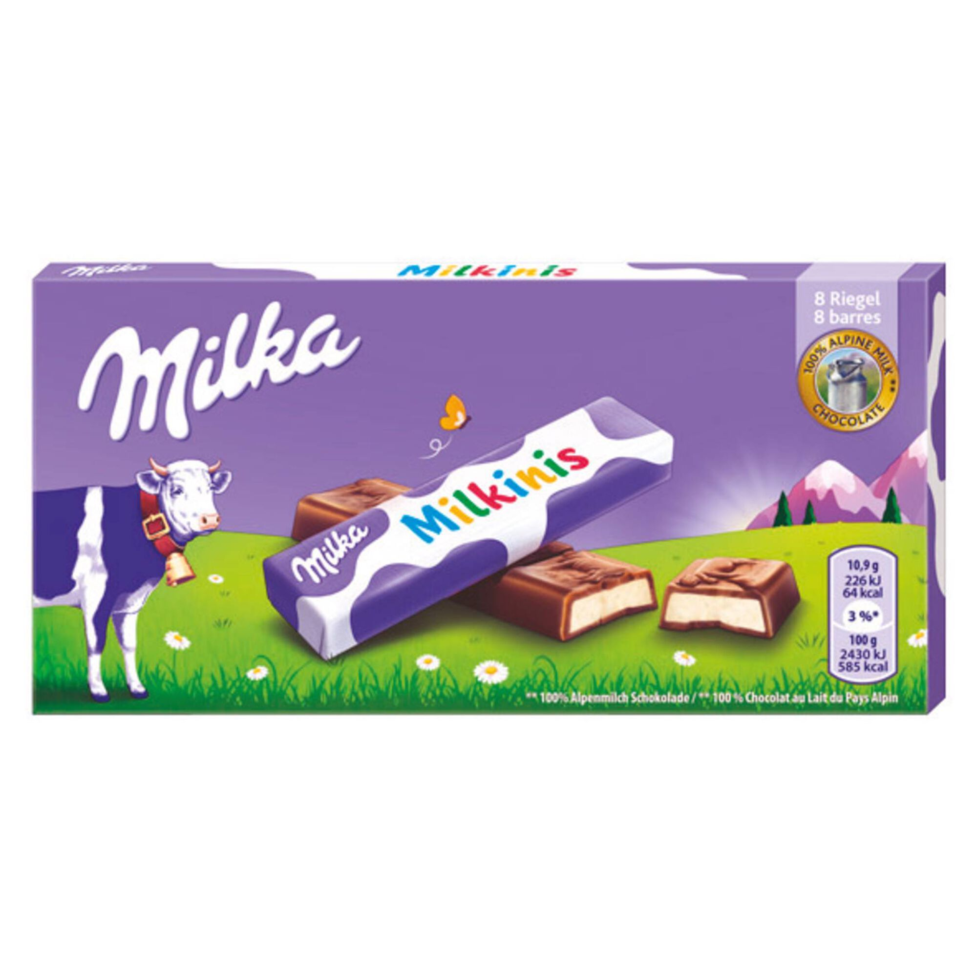 Tablete de Chocolate de Leite Milkinis 8 un