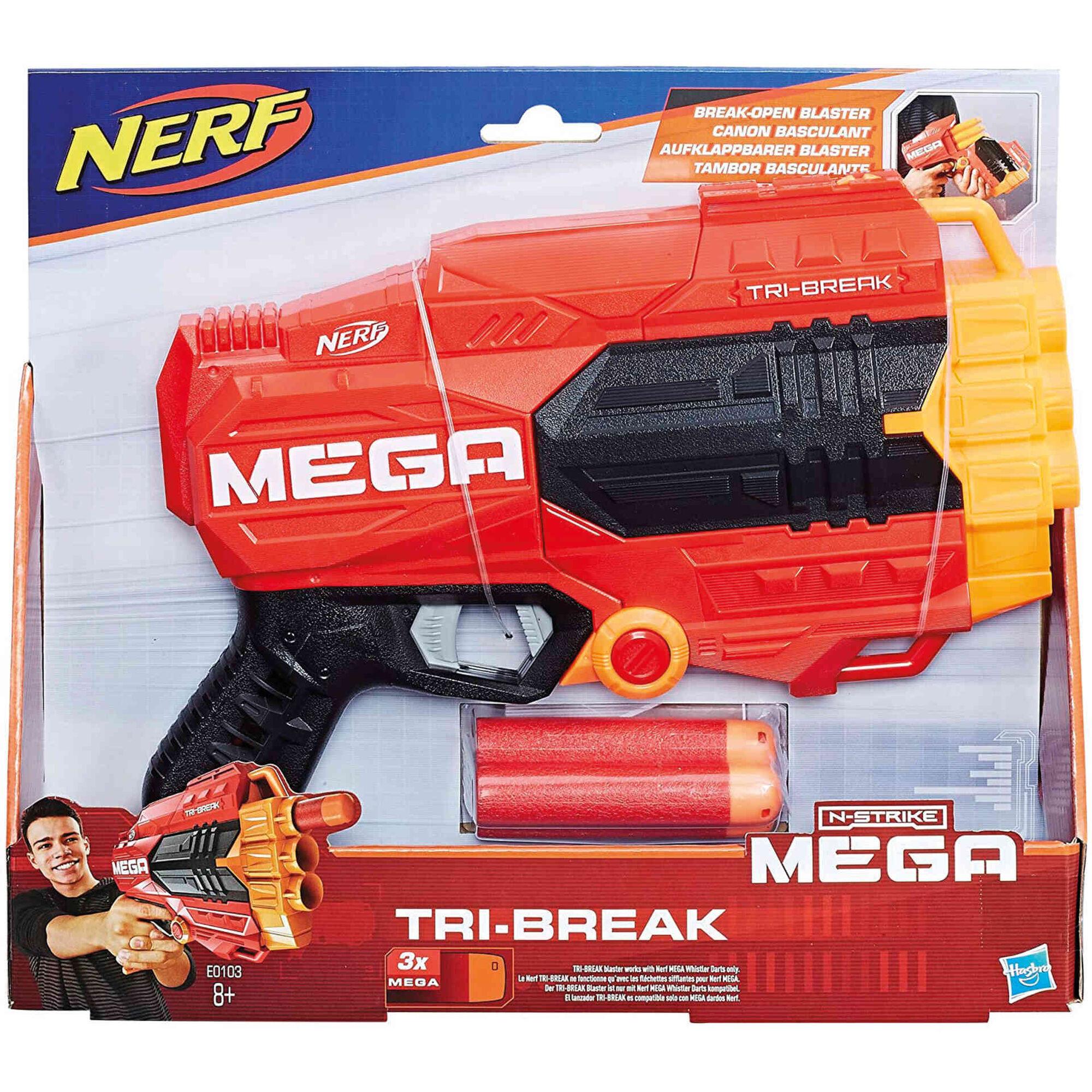 Lançador N-Strike Mega Tri-Break
