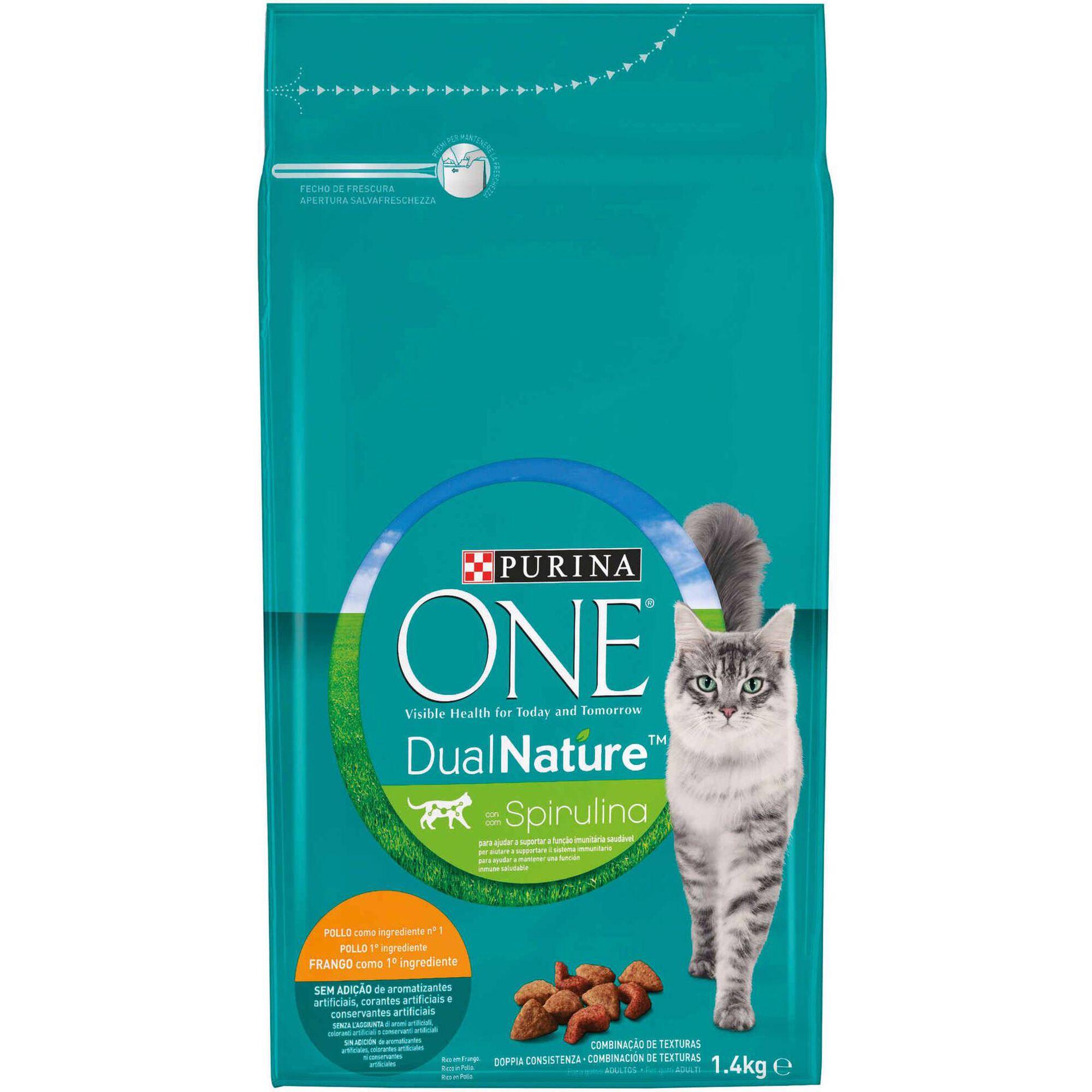 Ração Seca para Gato Adulto DualNature Frango com Espirulina Natural