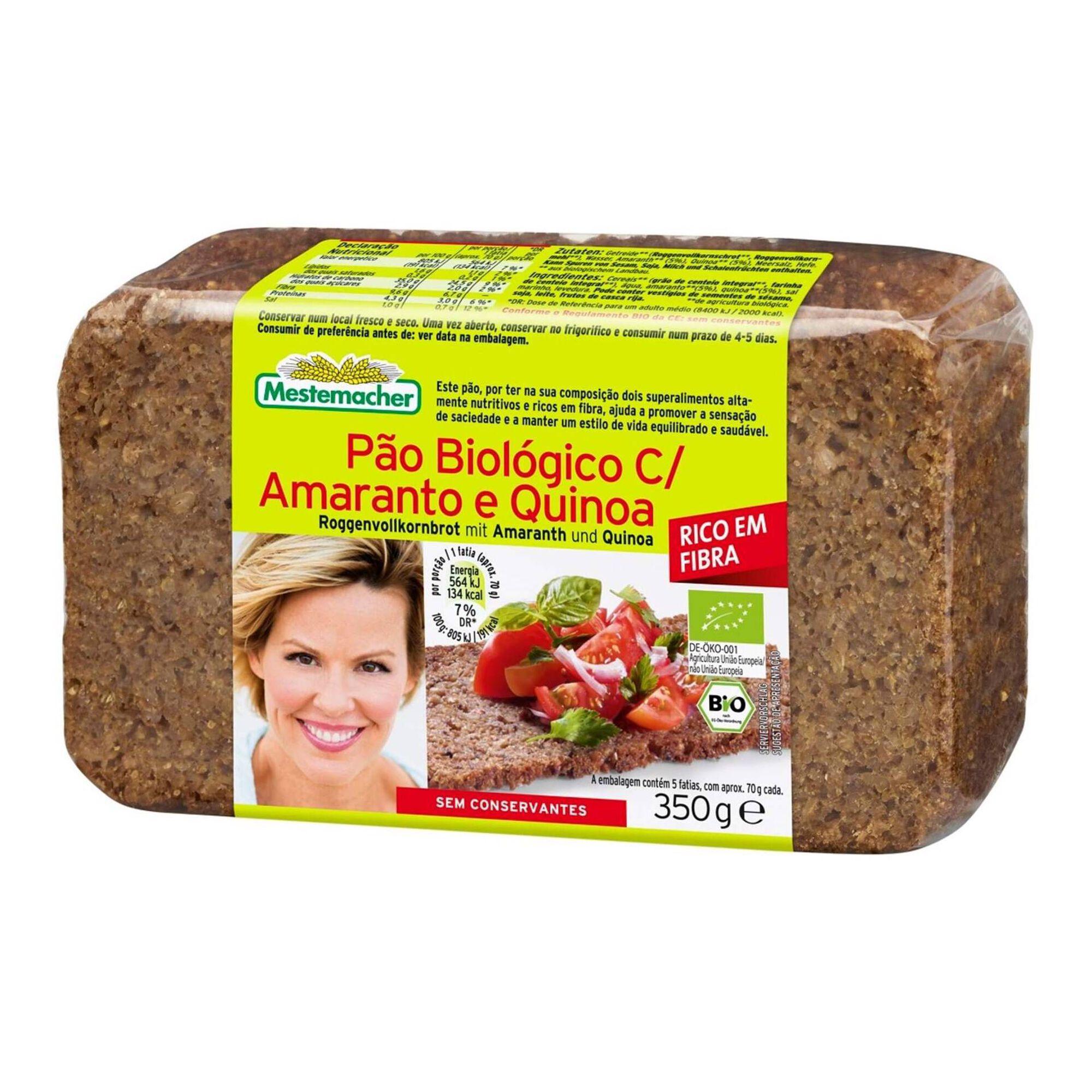 Pão com Amaranto e Quinoa Biológico