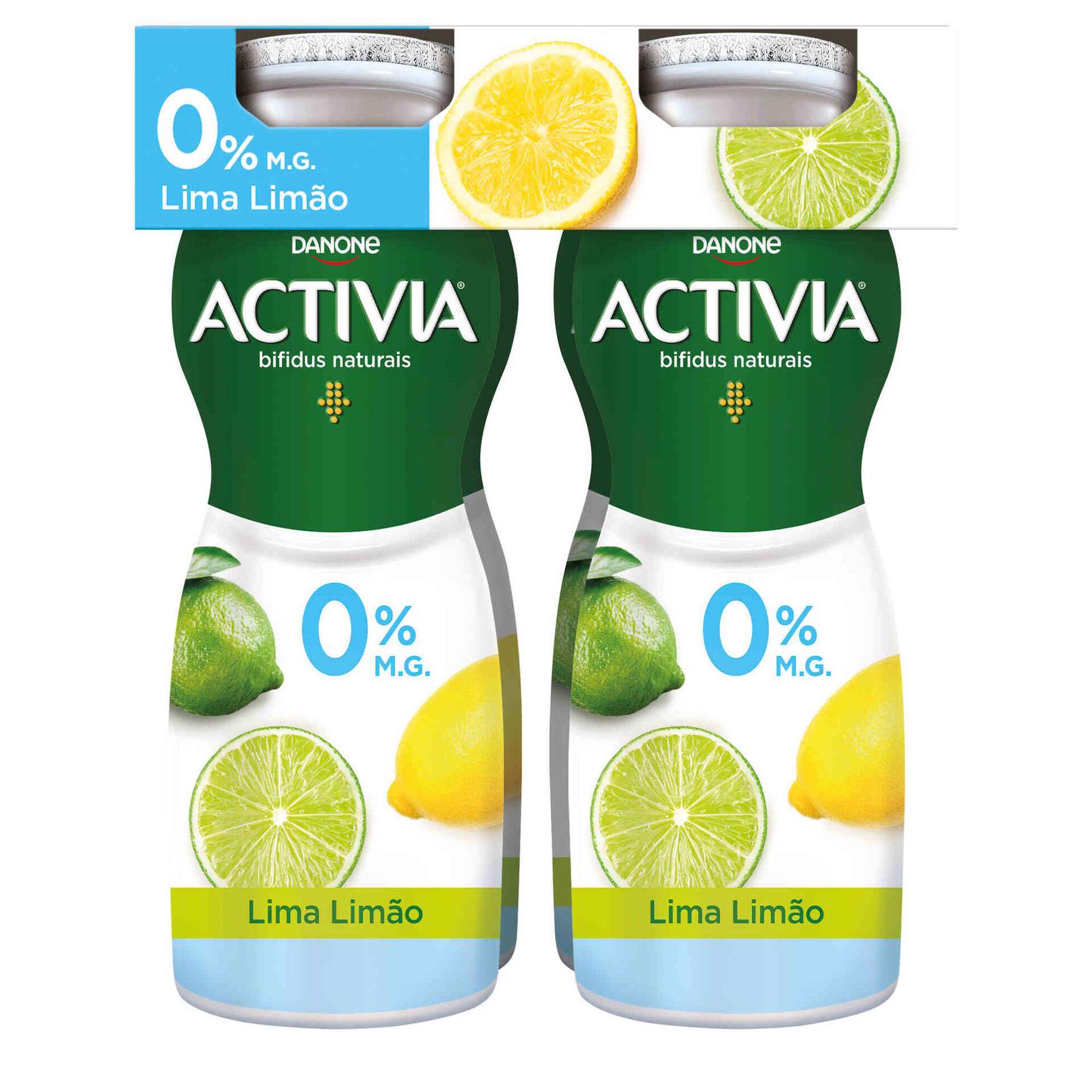 Iogurte Líquido Bifidus Magro Probióticos Lima e Limão Activia