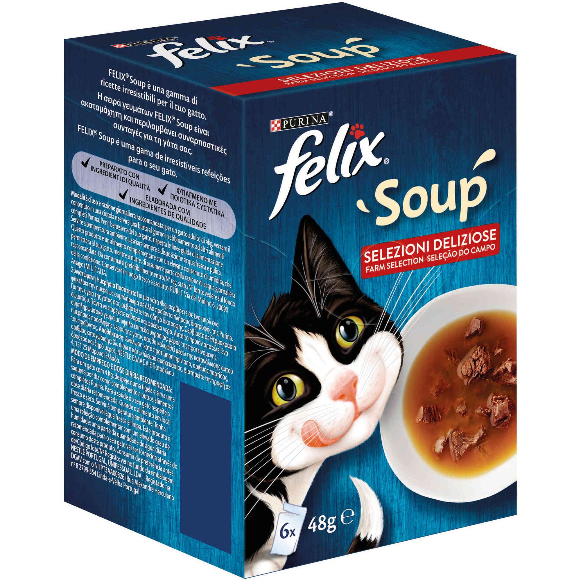 Comida Húmida para Gato Adulto Soup Carne Saquetas