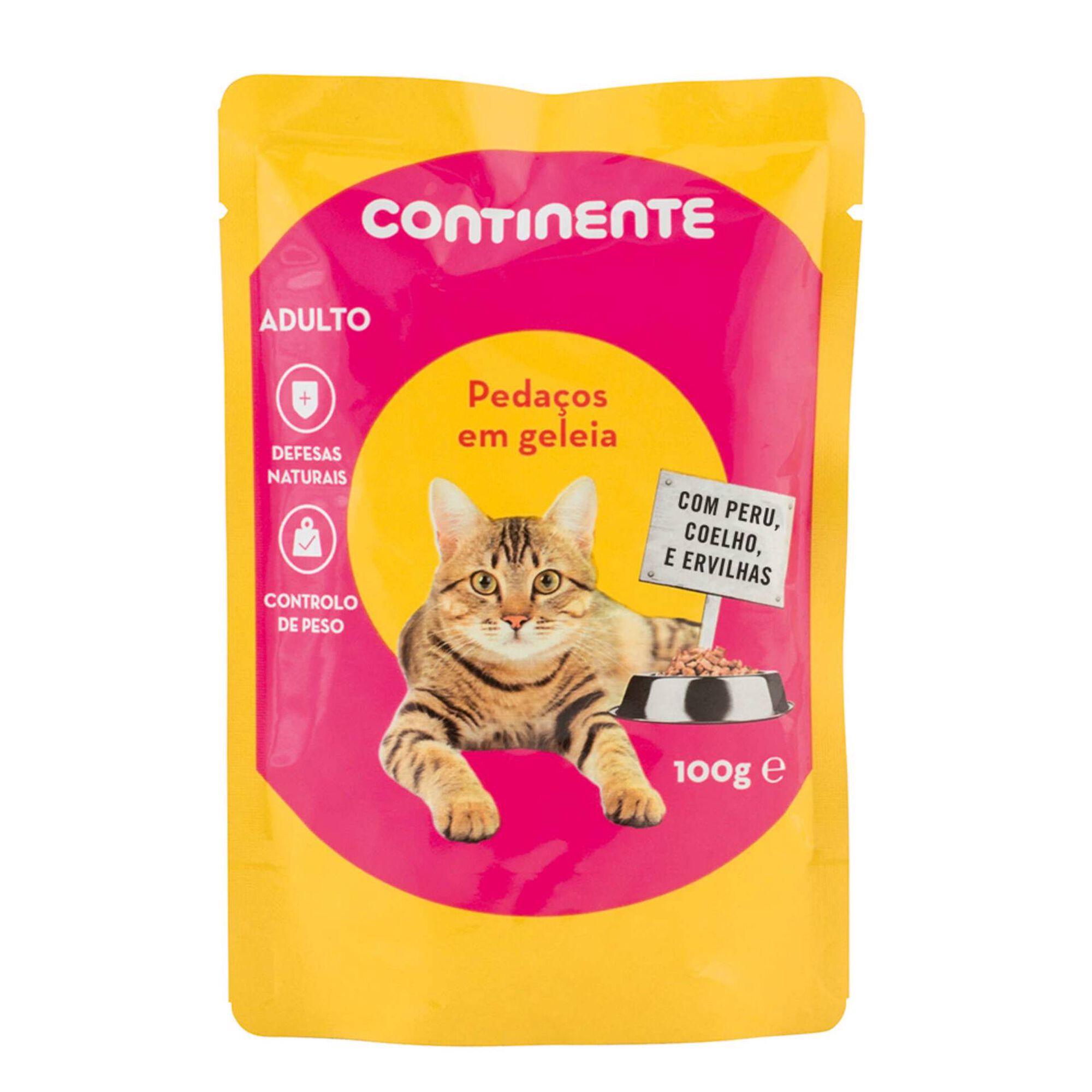 Comida Húmida para Gato Adulto Pedaços em Geleia Peru, Coelho e Ervilhas Saquetas