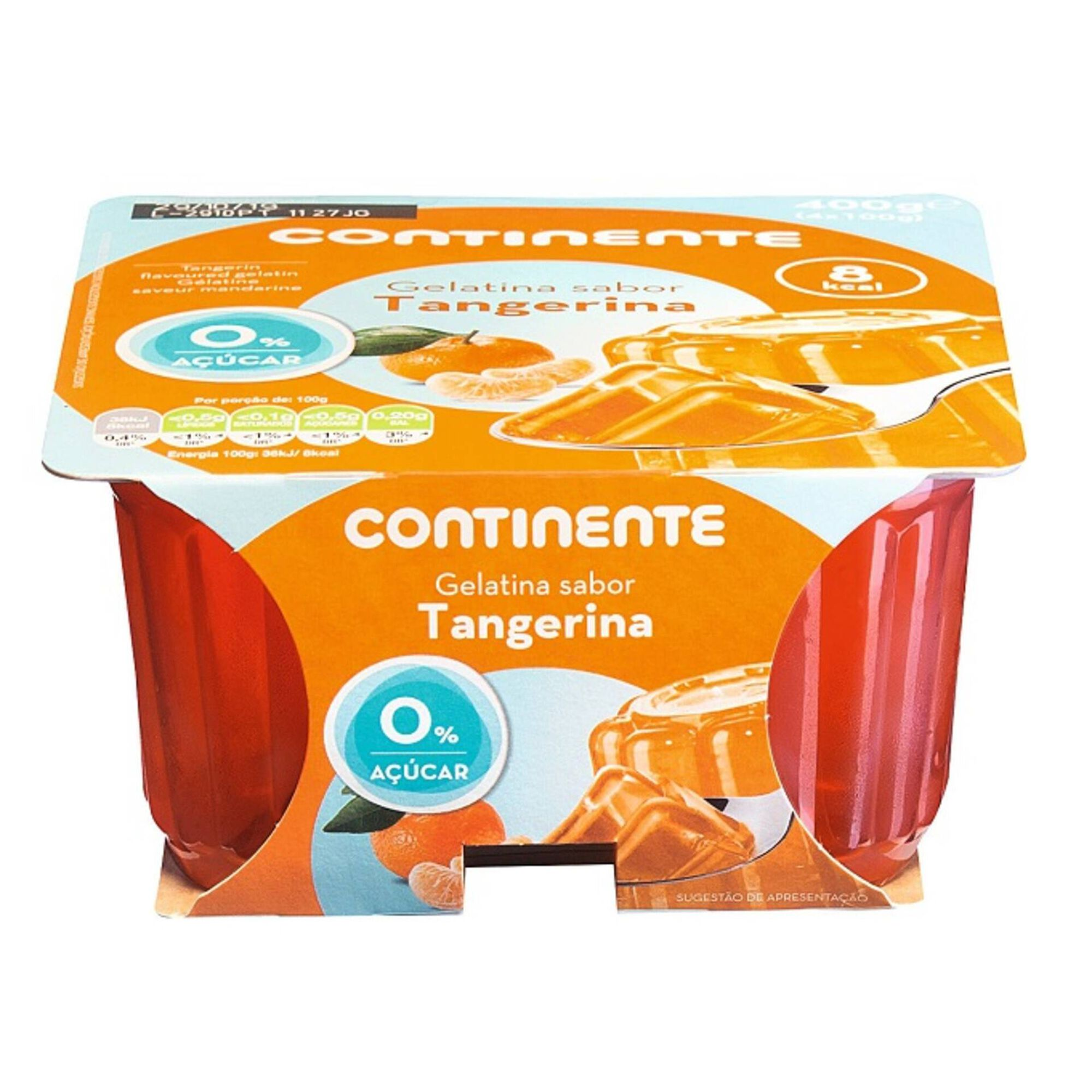 Gelatina Pronta Tangerina sem Açúcar, , hi-res