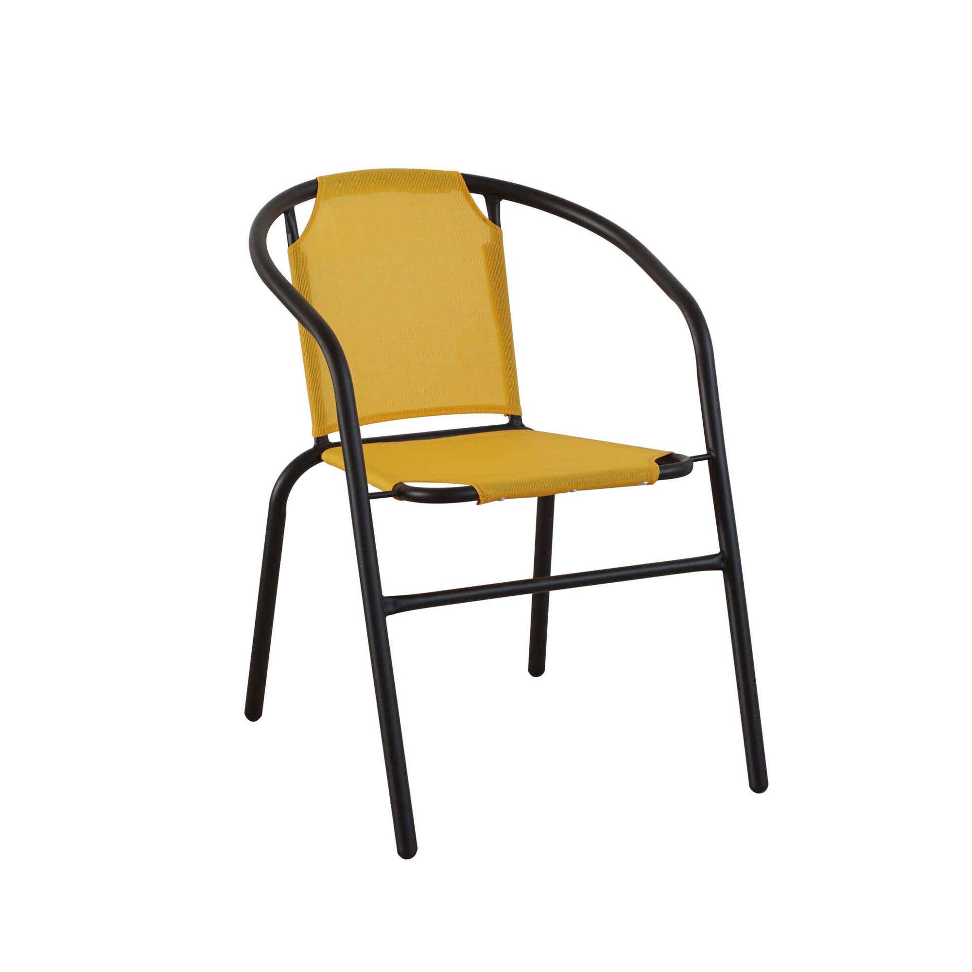 Cadeira de Metal Amarela Albufeira